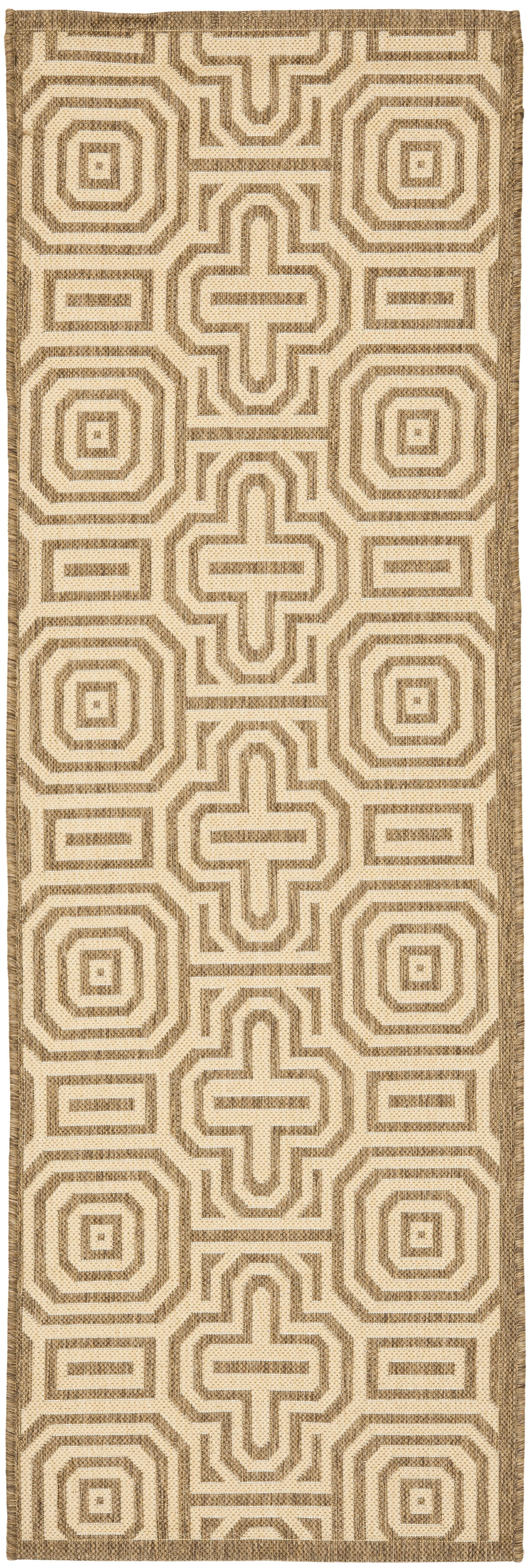 Jefferson Place Natural/Brown Indoor/Outdoor Area Rug Rug Size: Runner 2'4