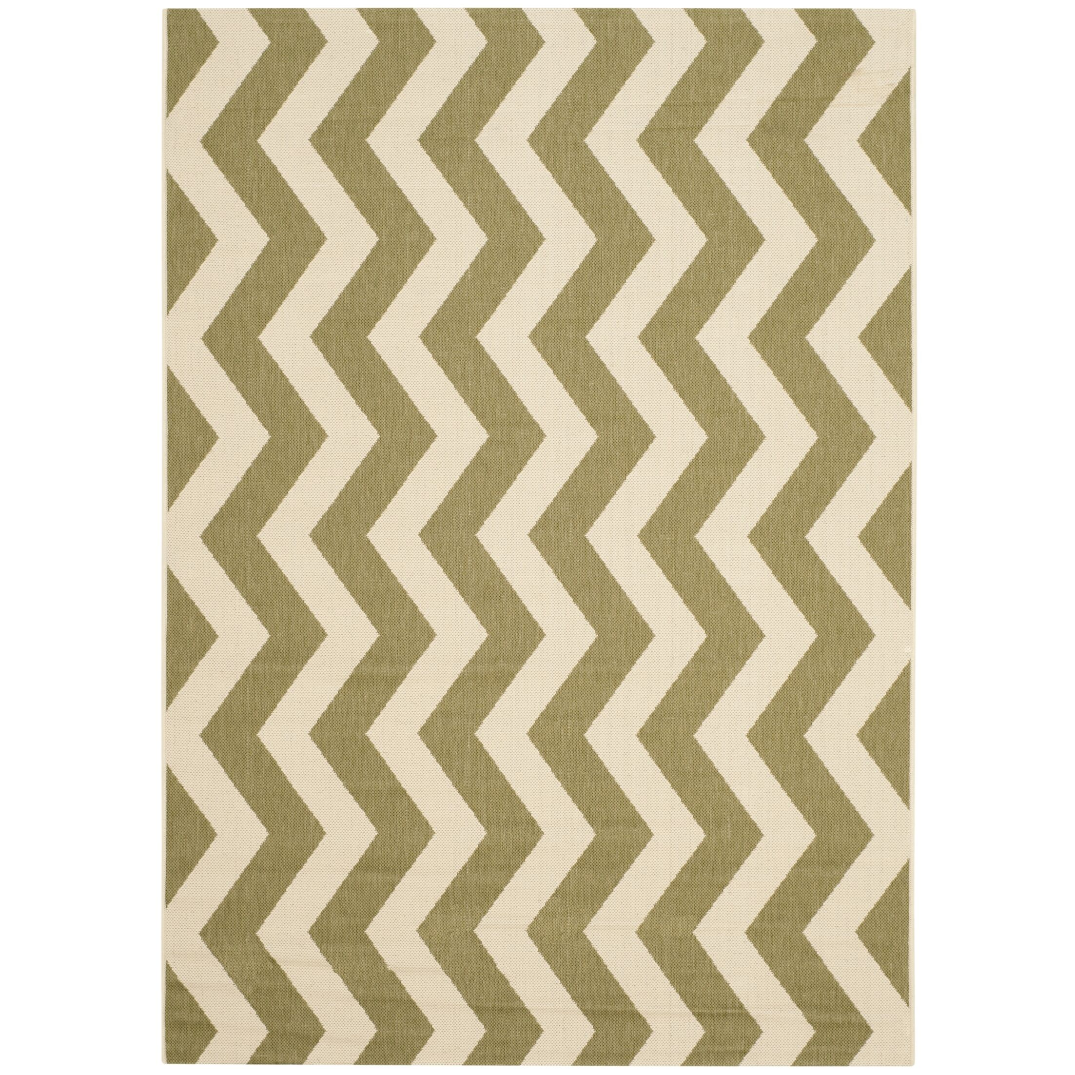 Jefferson Place Green/Beige Indoor/Outdoor Rug Rug Size: Rectangle 5'3