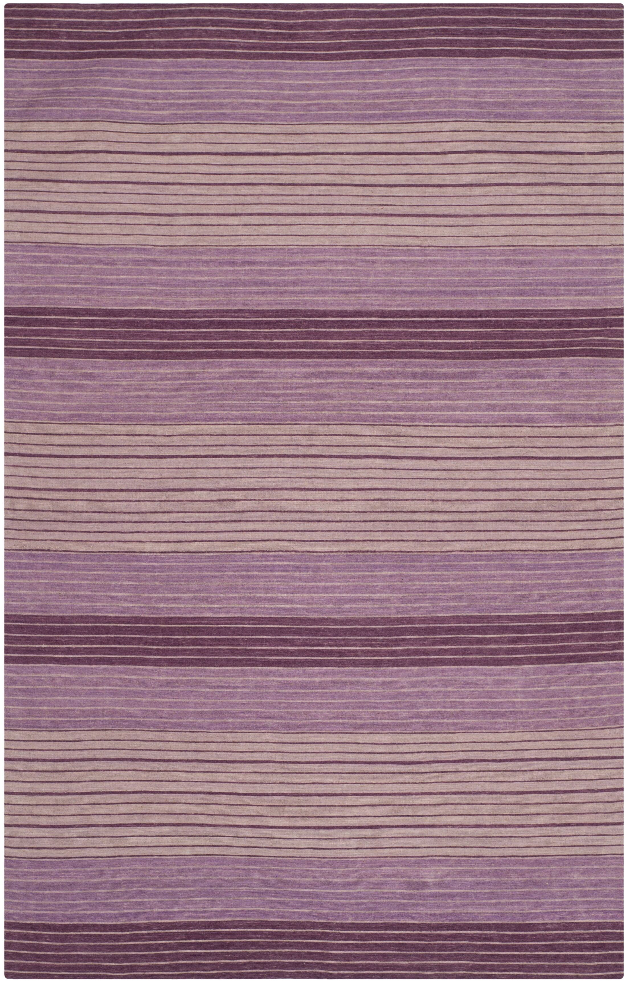 Jefferson Hand Woven Cotton Purple Area Rug Rug Size: Rectangle 4' x 6'