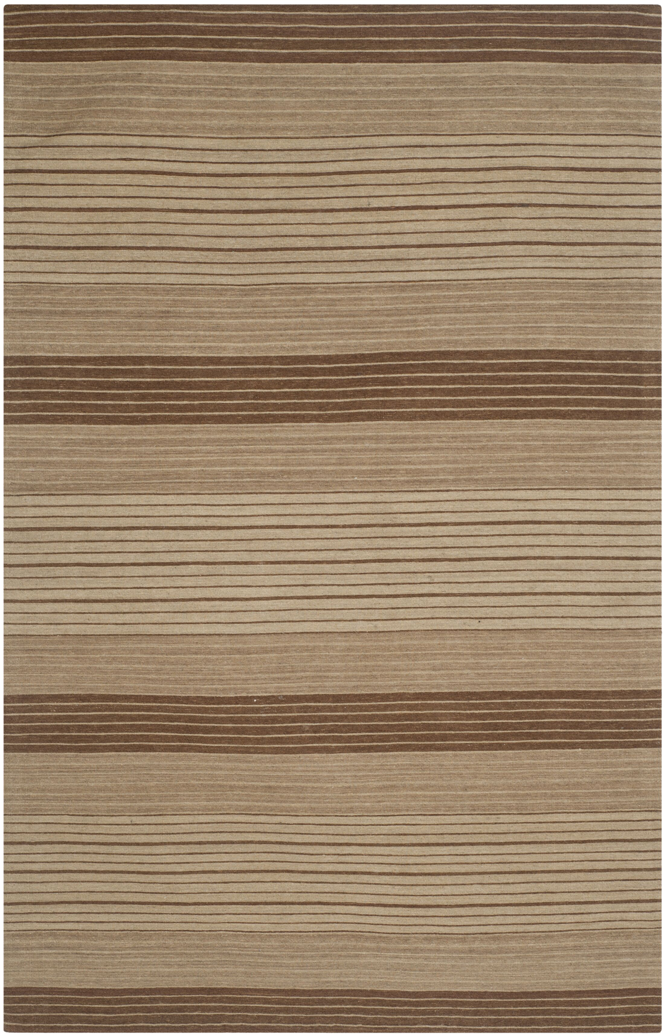 Jefferson Beige Striped Contemporary Area Rug Rug Size: Rectangle 5' x 8'