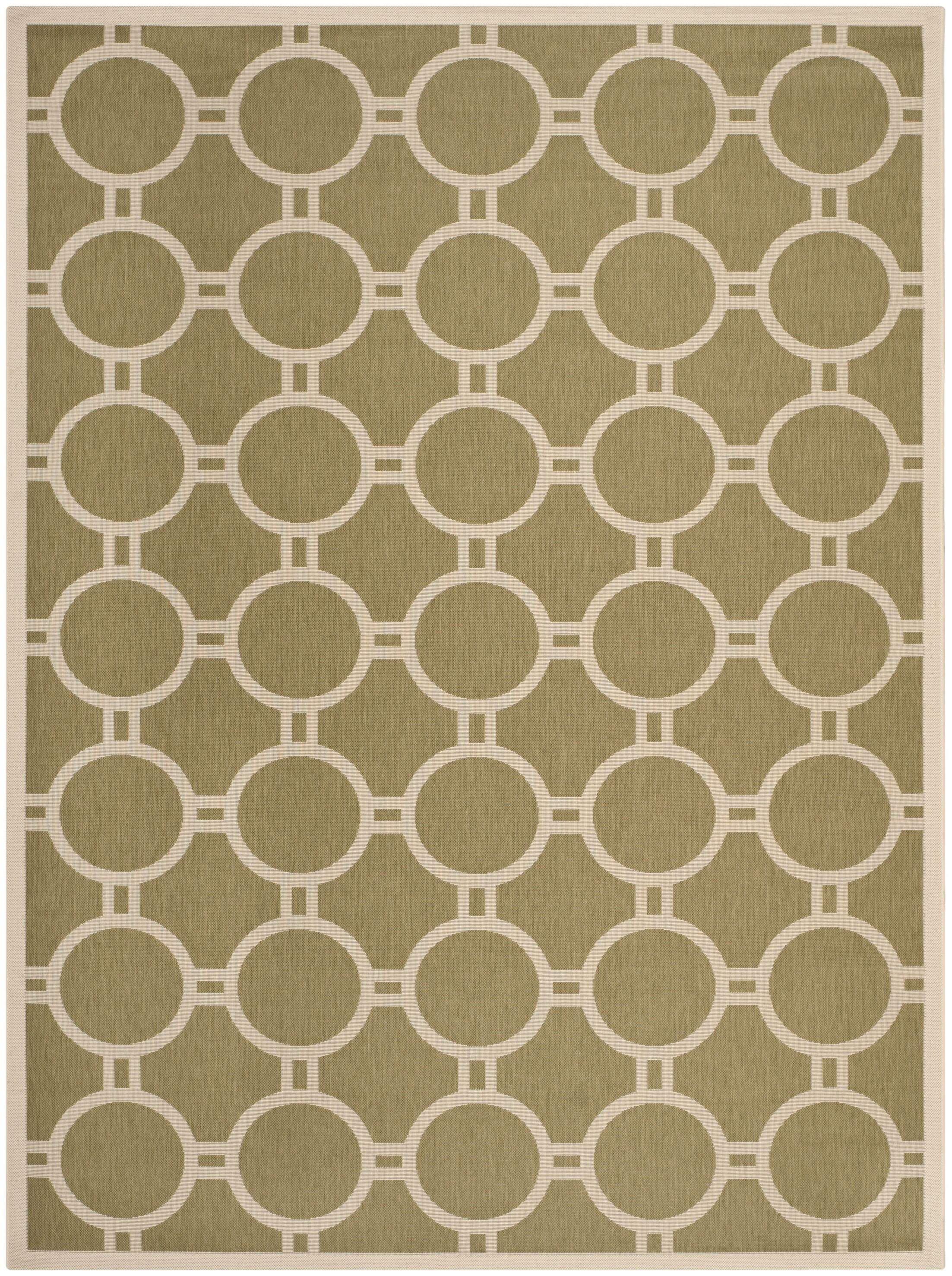 Jefferson Place Green/Beige Outdoor Rug Rug Size: Rectangle 5'3