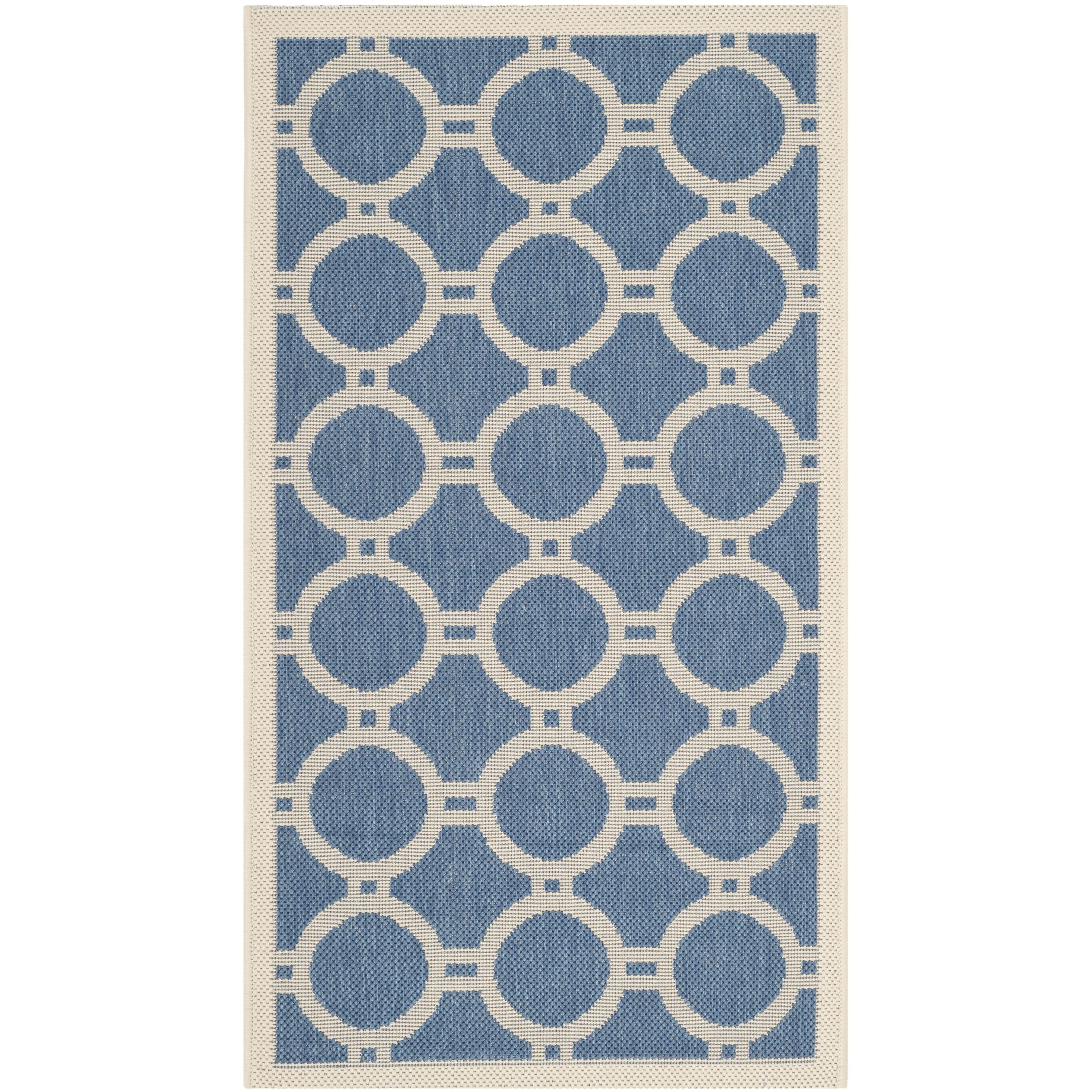 Jefferson Place Blue/Beige Indoor/Outdoor Area Rug Rug Size: Rectangle 2'7
