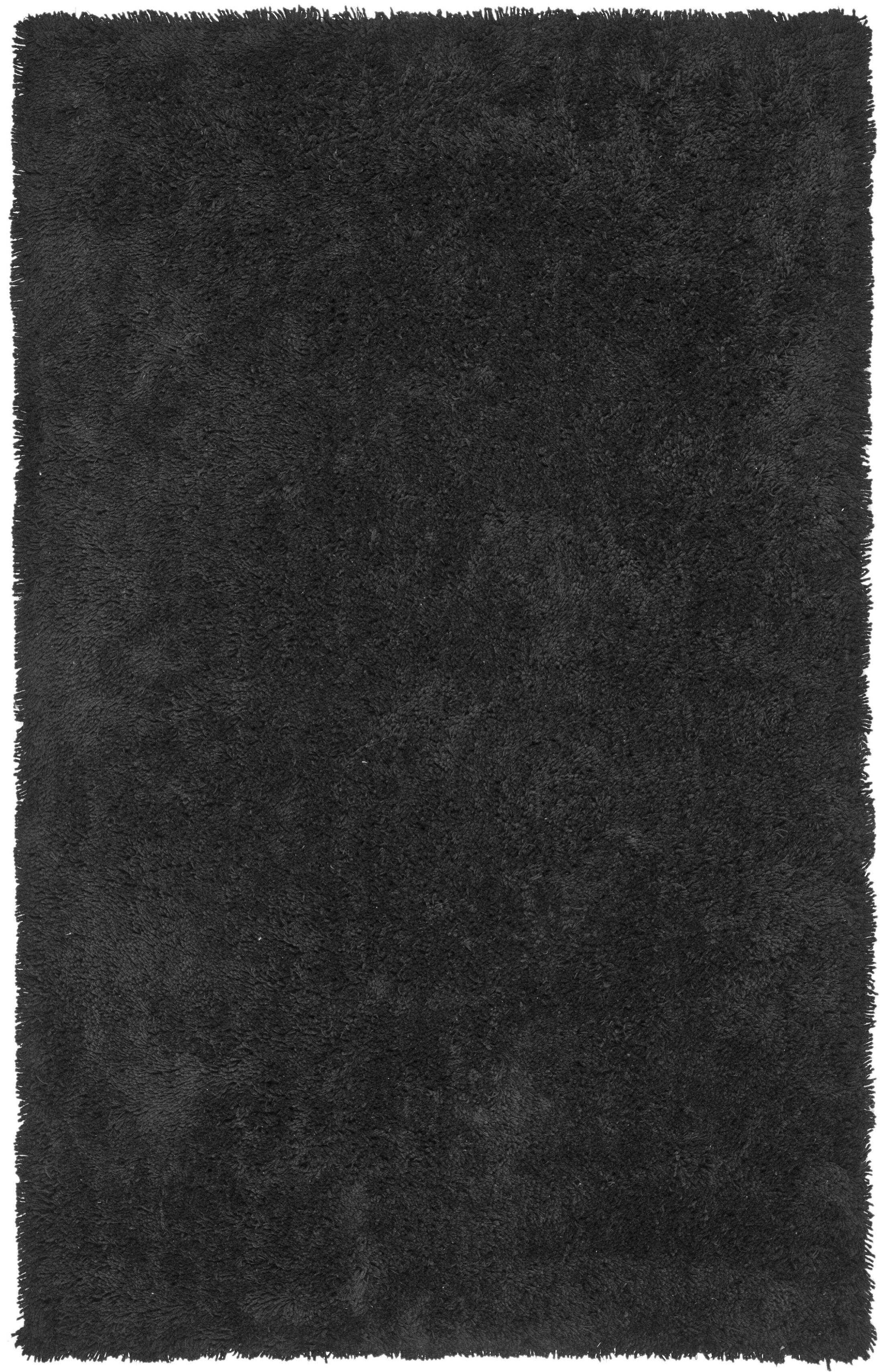 Starr Hill Solid Black Area Rug Rug Size: Rectangle 8'6