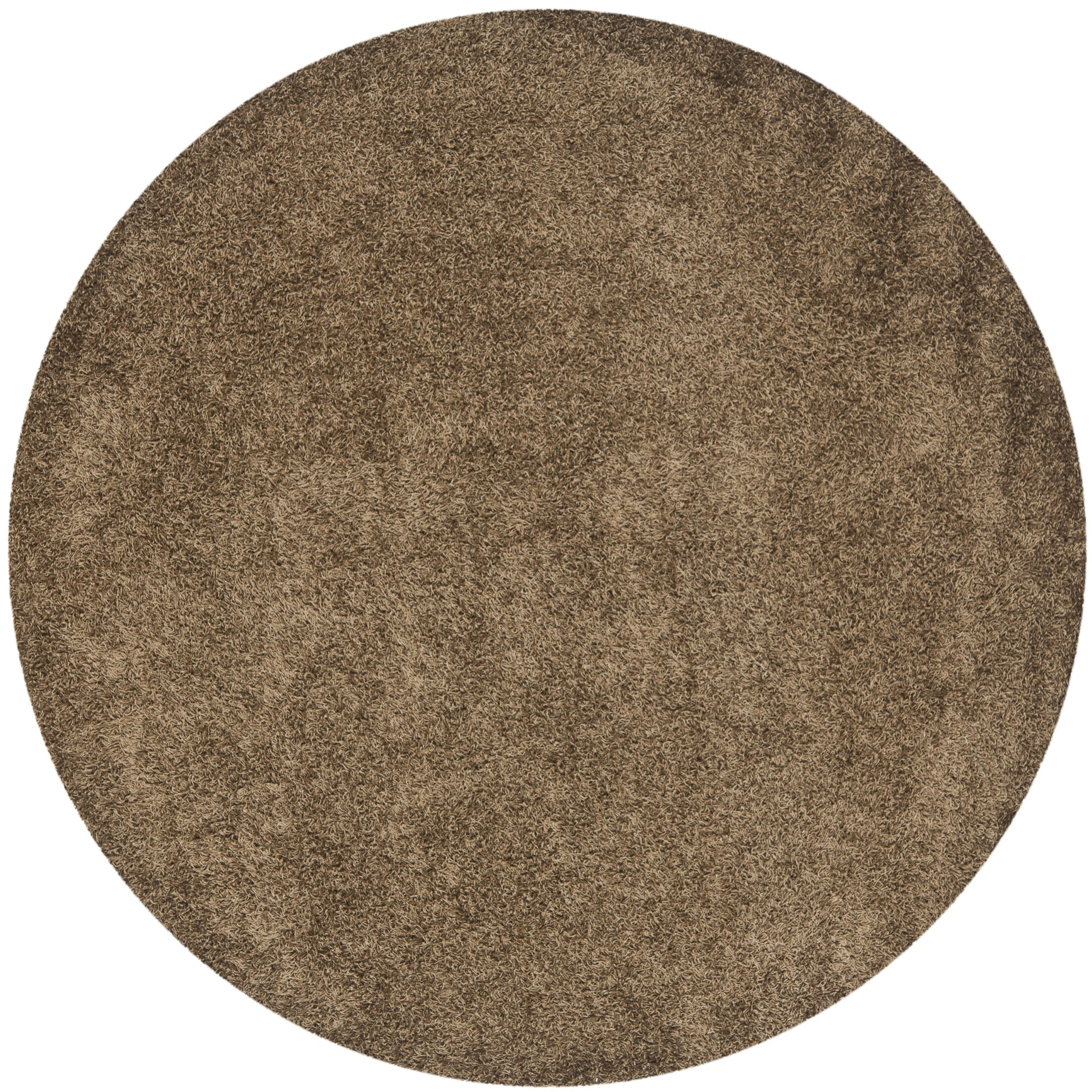 Starr Hill Light Brown Area Rug Rug Size: Round 7'