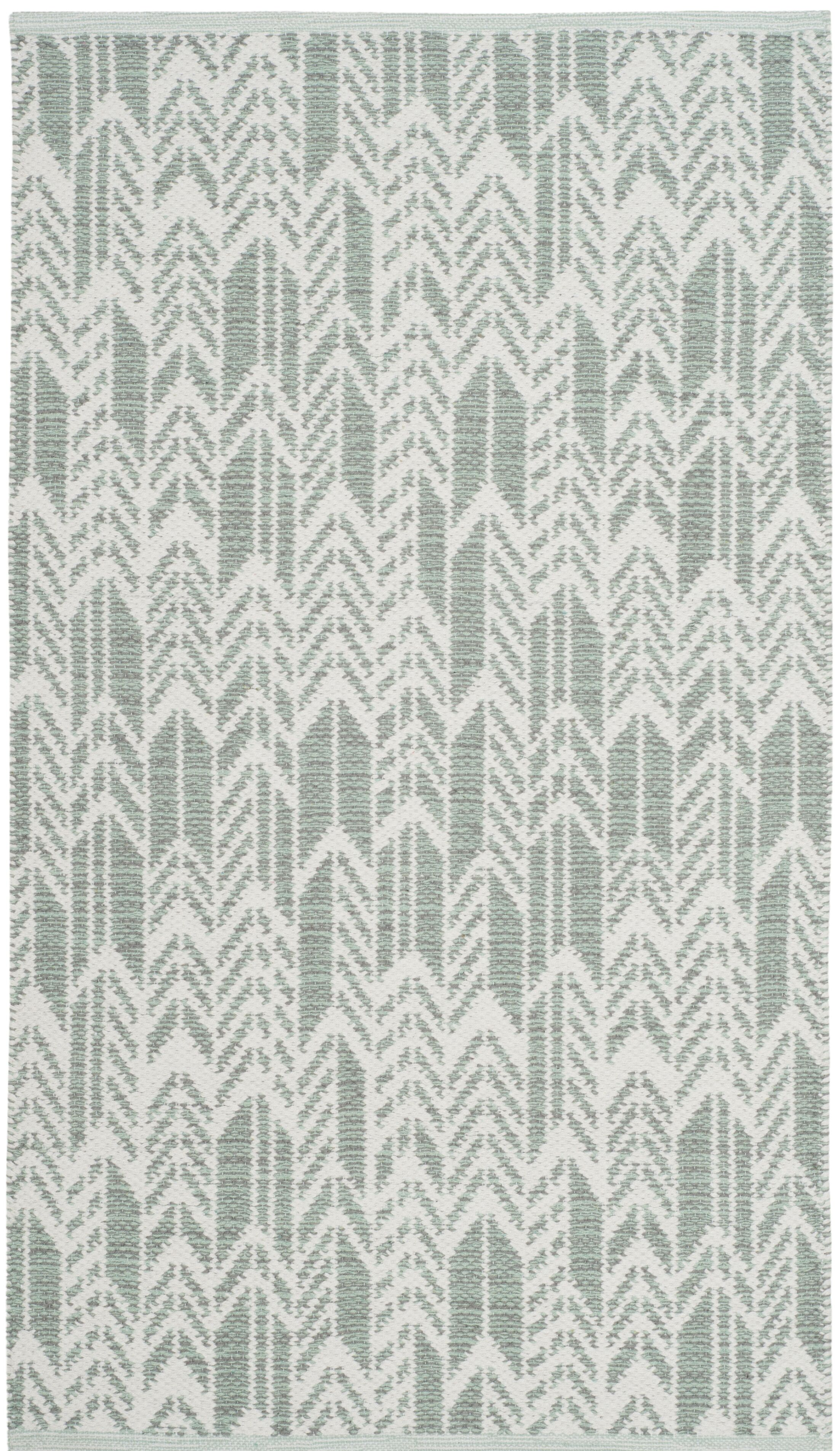 Paz Hand-Woven Light Green/Ivory Area Rug Rug Size: Rectangle 5' x 8'
