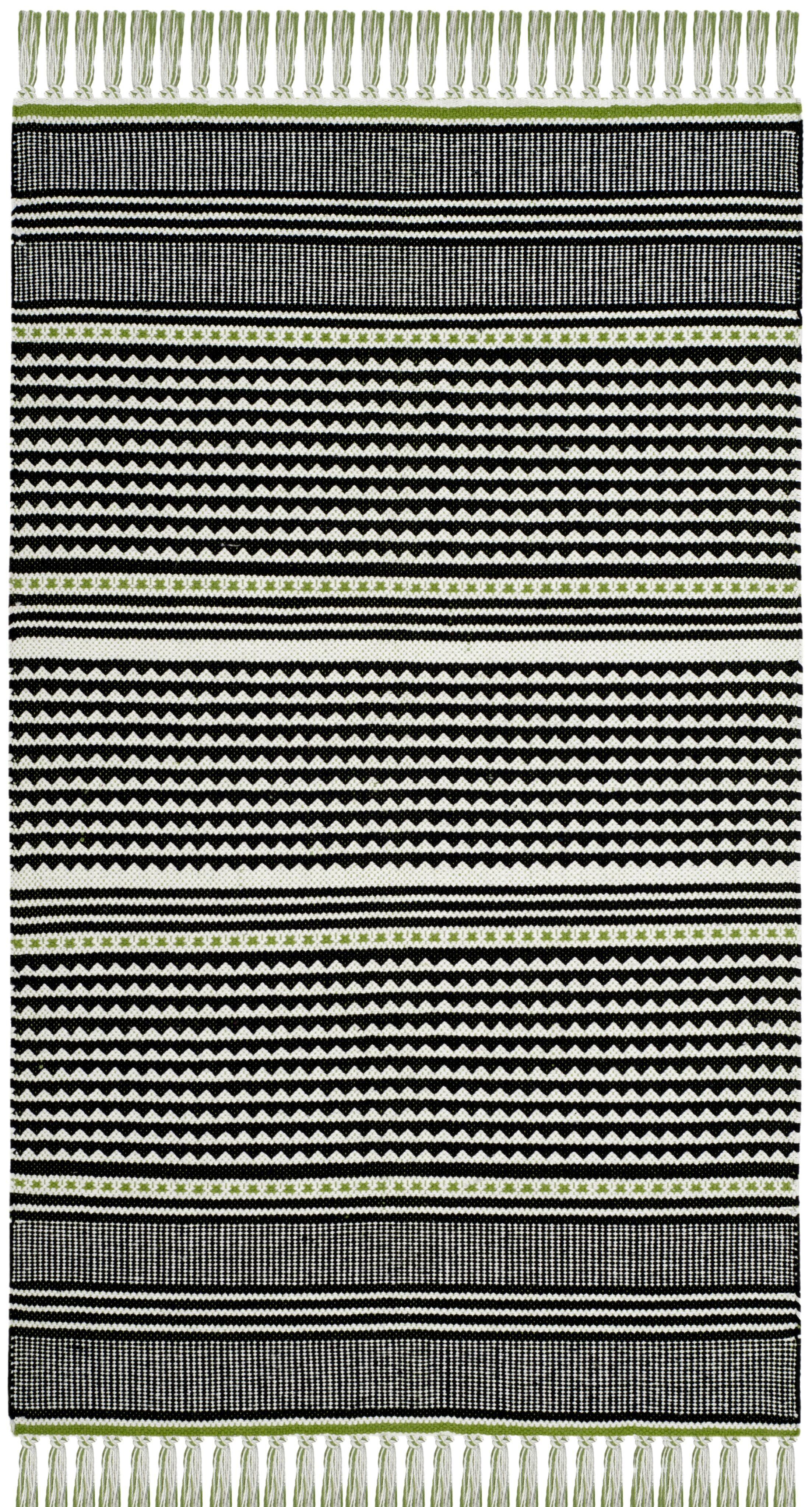 Granada Hand-Woven Green/Gray Area Rug Rug Size: Rectangle 5' x 8'