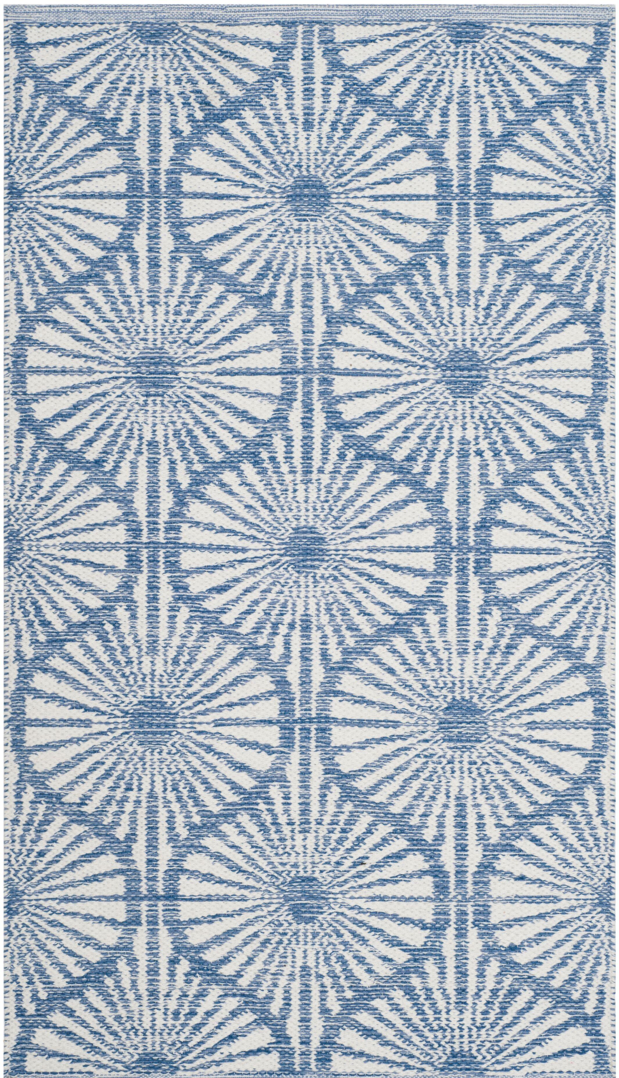 Oak Hill Hand-Woven Blue/Ivory Area Rug Rug Size: Rectangle 8' x 10'