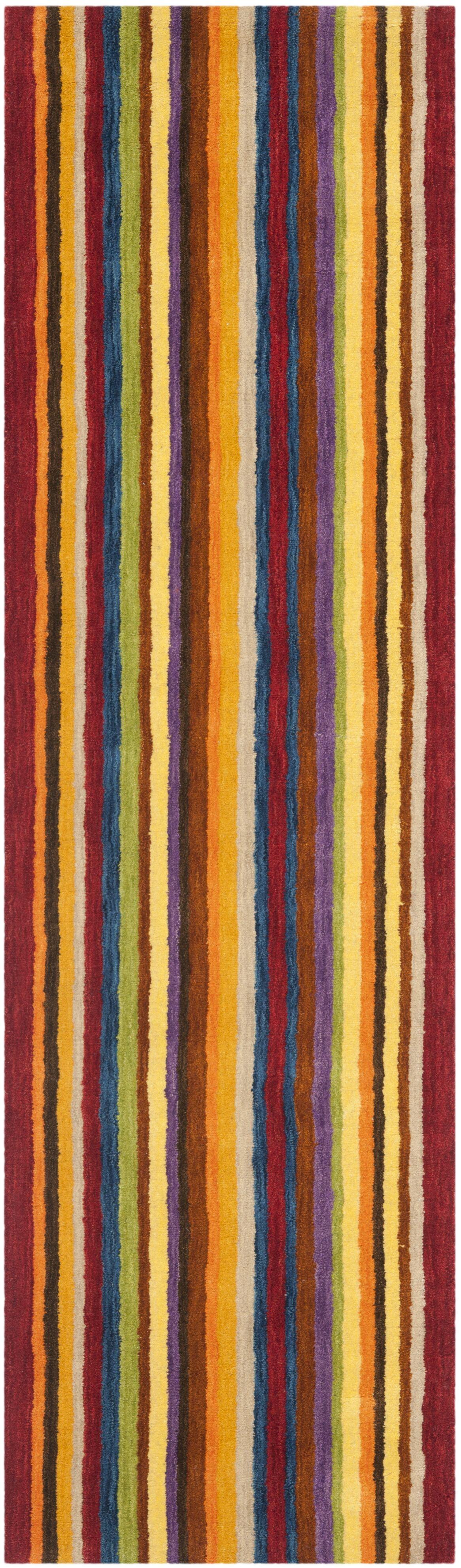 Bolick Hand Woven Wool Yellow/Brown/Orange Area Rug Rug Size: Runner 2'3