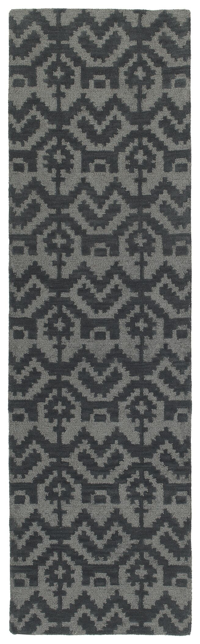 Hinton Charterhouse Hand-Tufted Gray Area Rug Rug Size: Runner 2'3