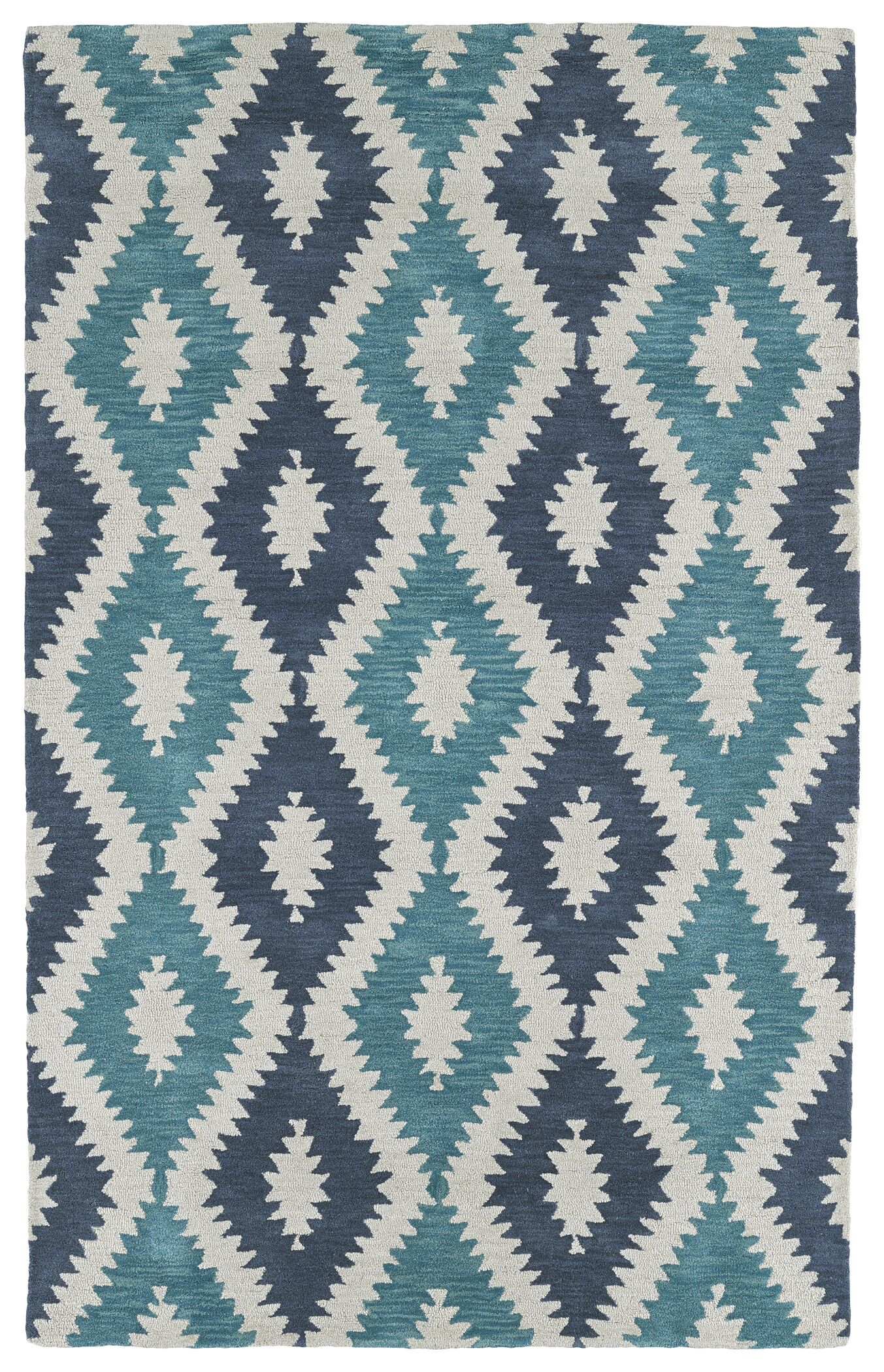 Hinton Charterhouse Hand-Tufted Turquoise Area Rug Rug Size: Rectangle 3'6