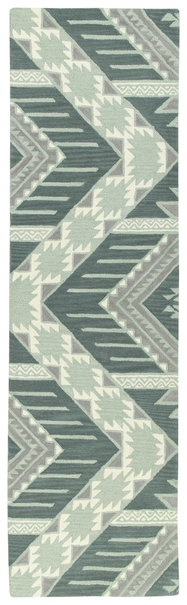 Hinton Charterhouse Hand-Tufted Mint Area Rug Rug Size: Rectangle 9' x 12'