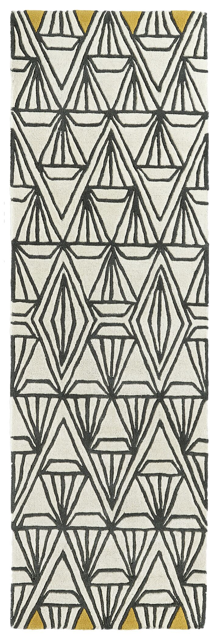 Ronnie Hand-Tufted Ivory Area Rug Rug Size: Rectangle 3'6