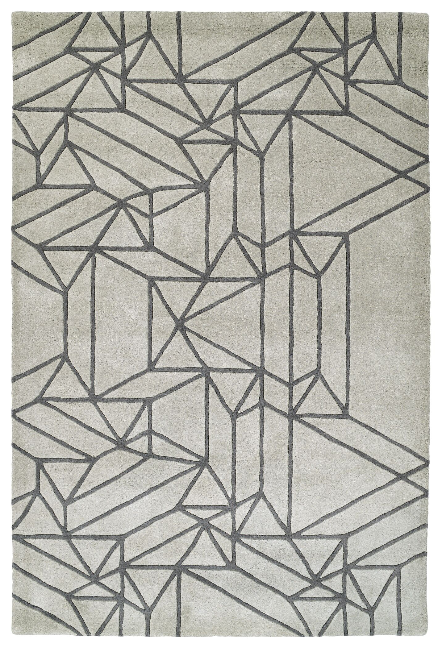 Ronnie Hand-Tufted Mint Area Rug Rug Size: Rectangle 2' x 3'