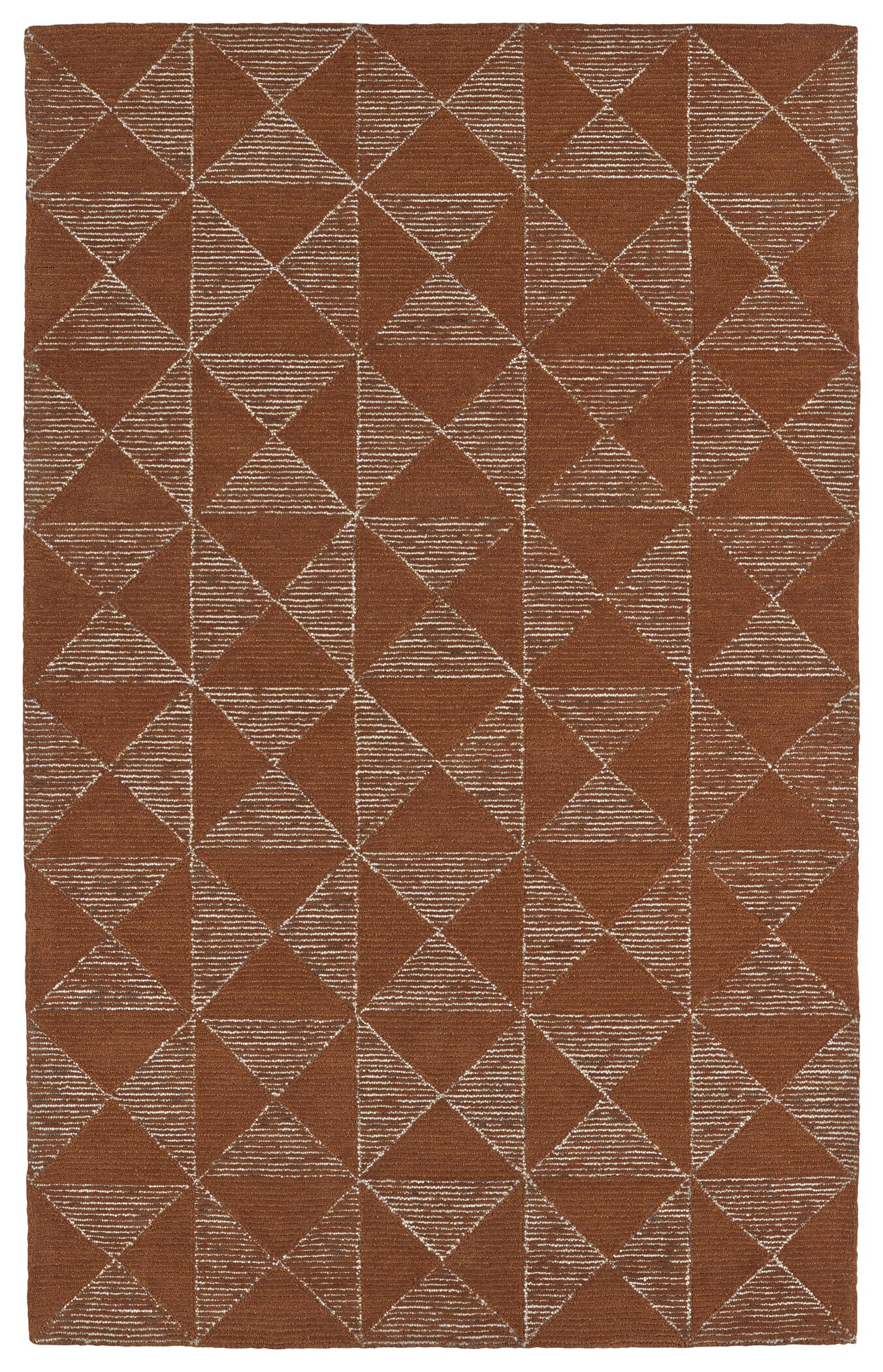 Cilegon Hand-Tufted Paprika/Linen Area Rug Rug Size: Rectangle 3'6