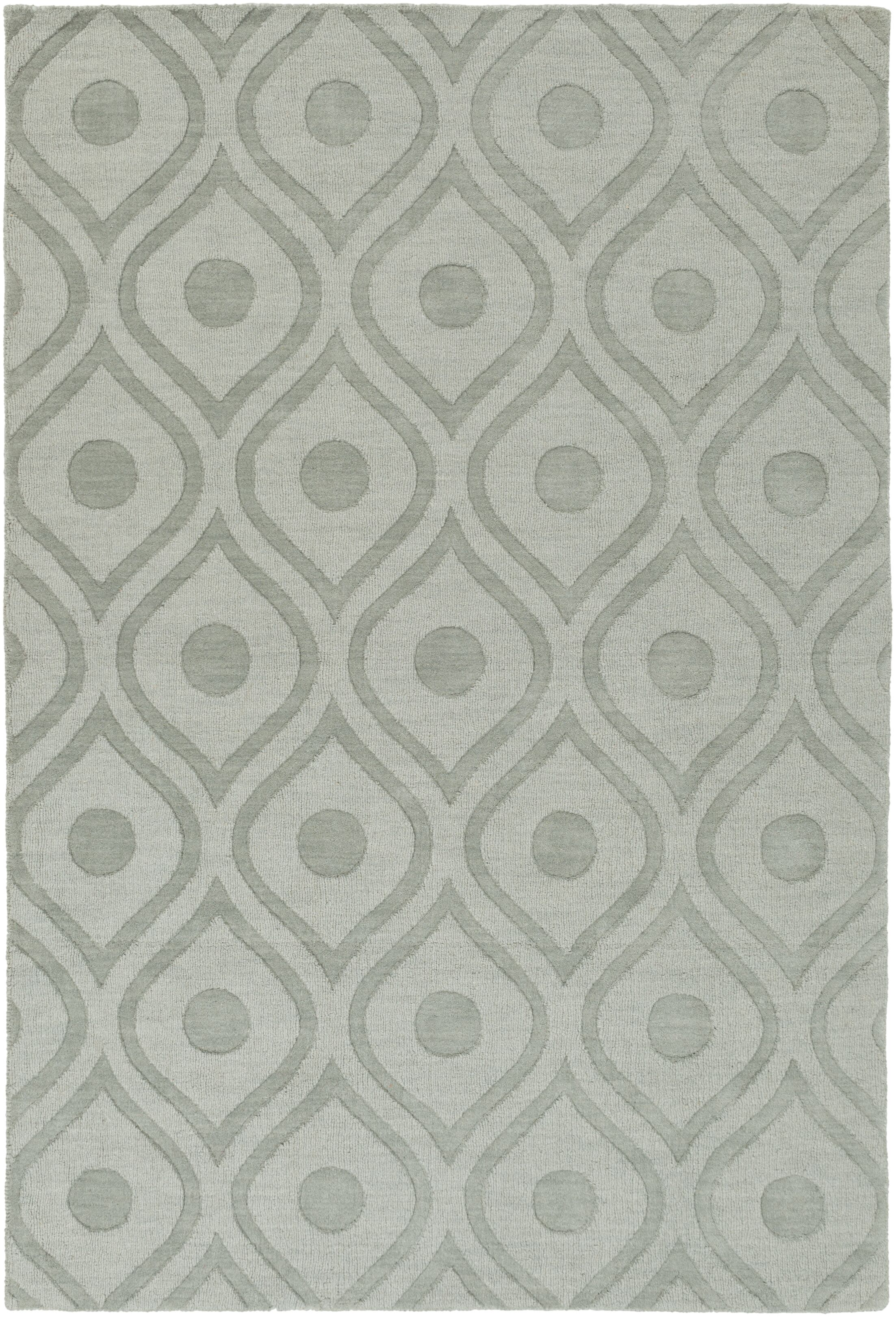 Castro Hand Woven Wool Blue-Gray Area Rug Rug Size: Rectangle 6' x 9'