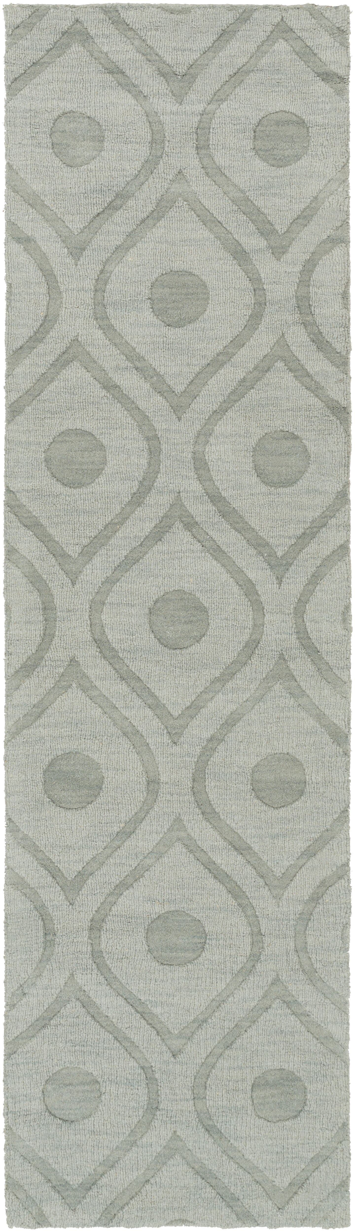 Castro Hand Woven Wool Blue-Gray Area Rug Rug Size: Runner 2'3
