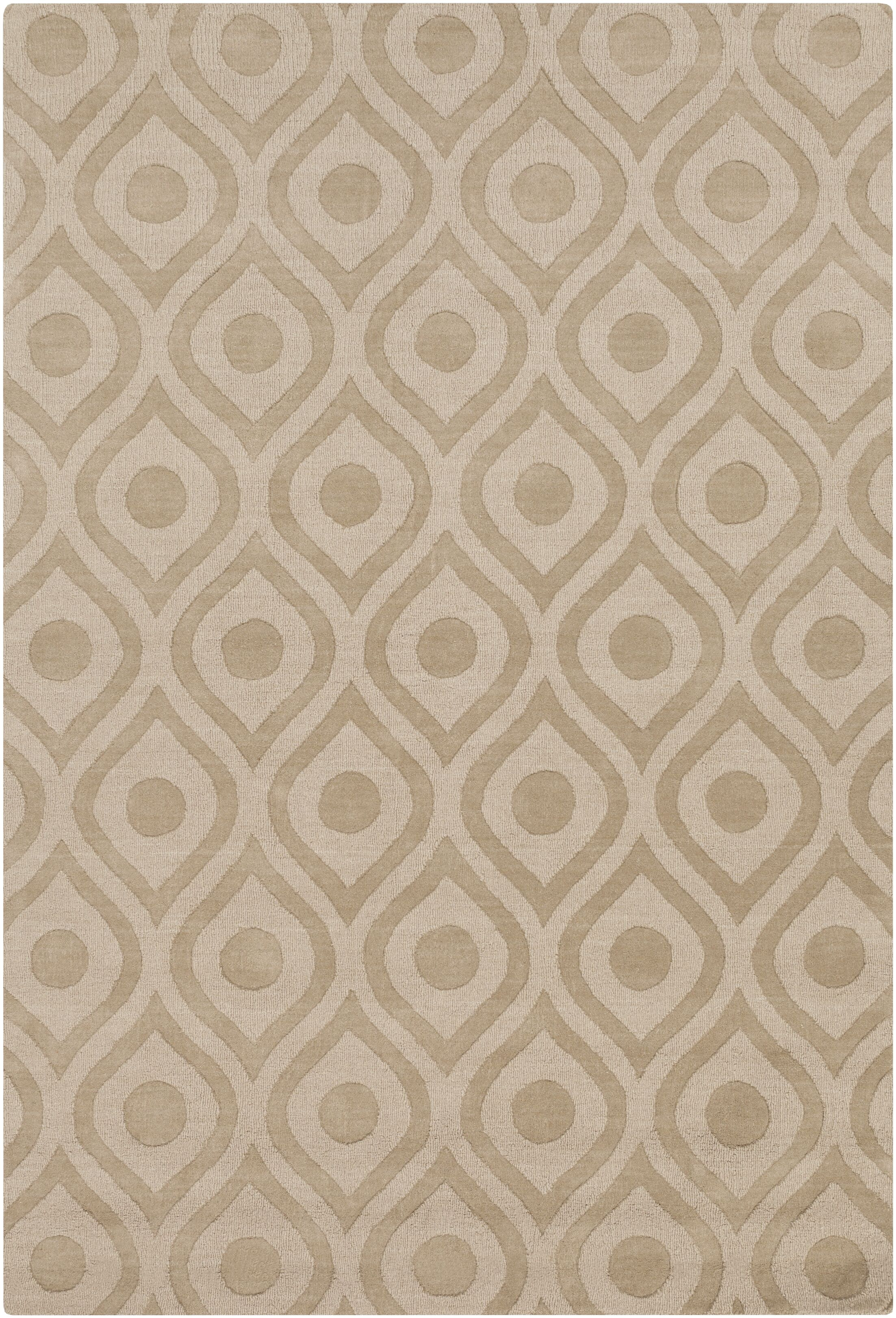 Castro Hand Woven Wool Beige Area Rug Rug Size: Rectangle 2' x 3'