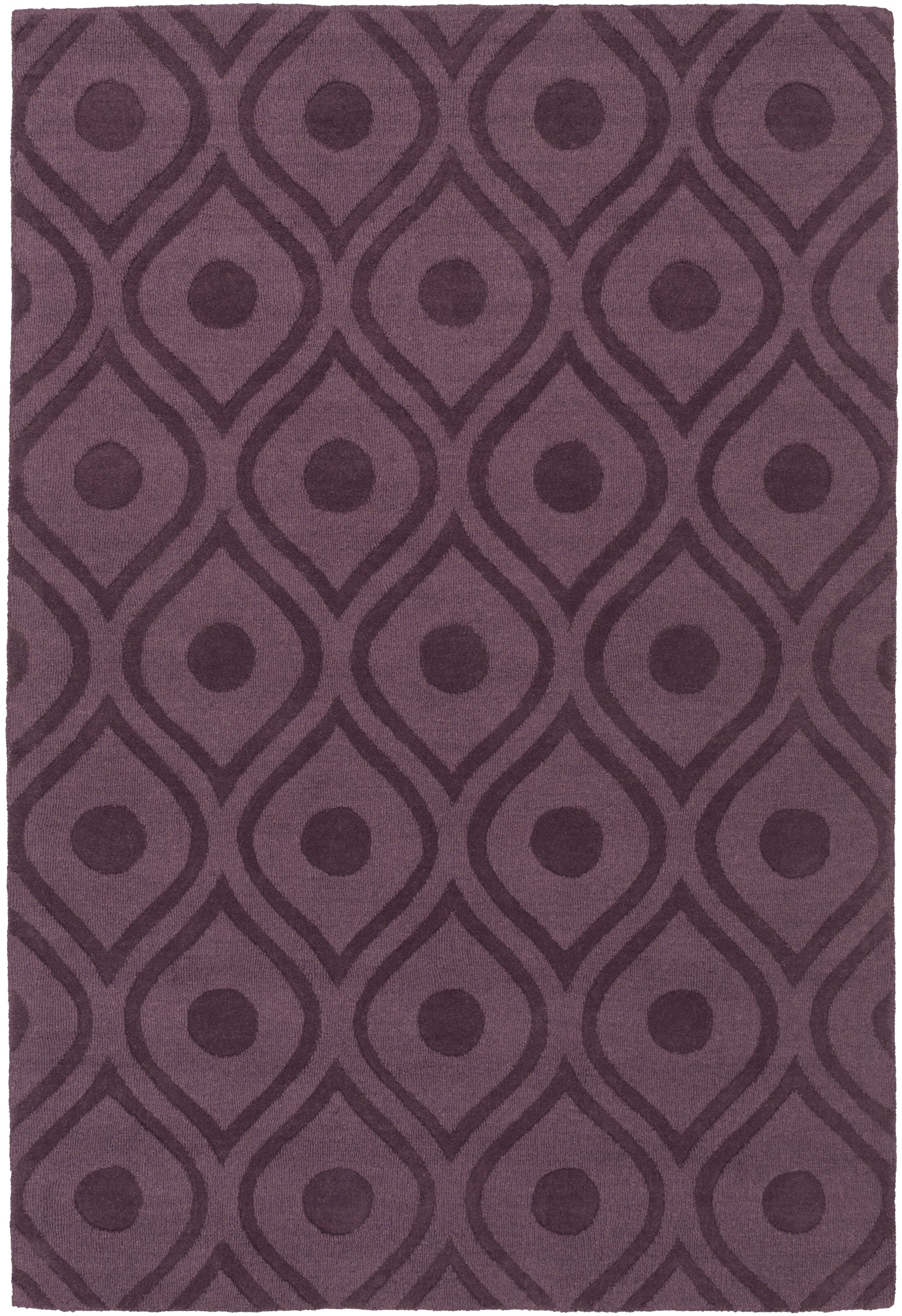 Castro Hand Woven Wool Purple Area Rug Rug Size: Rectangle 10' x 14'