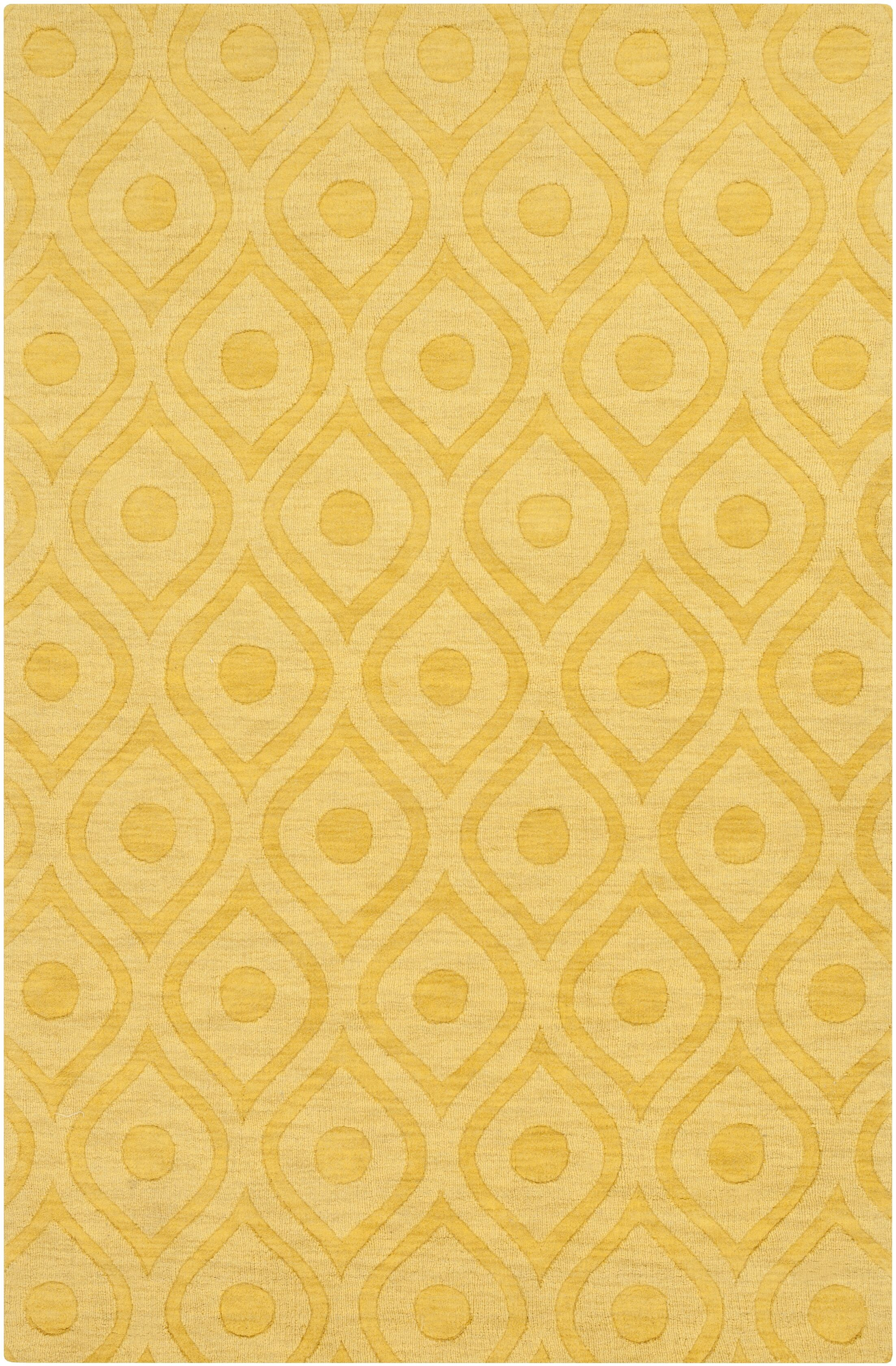 Castro Hand Woven Wool Yellow Area Rug Rug Size: Rectangle 4' x 6'
