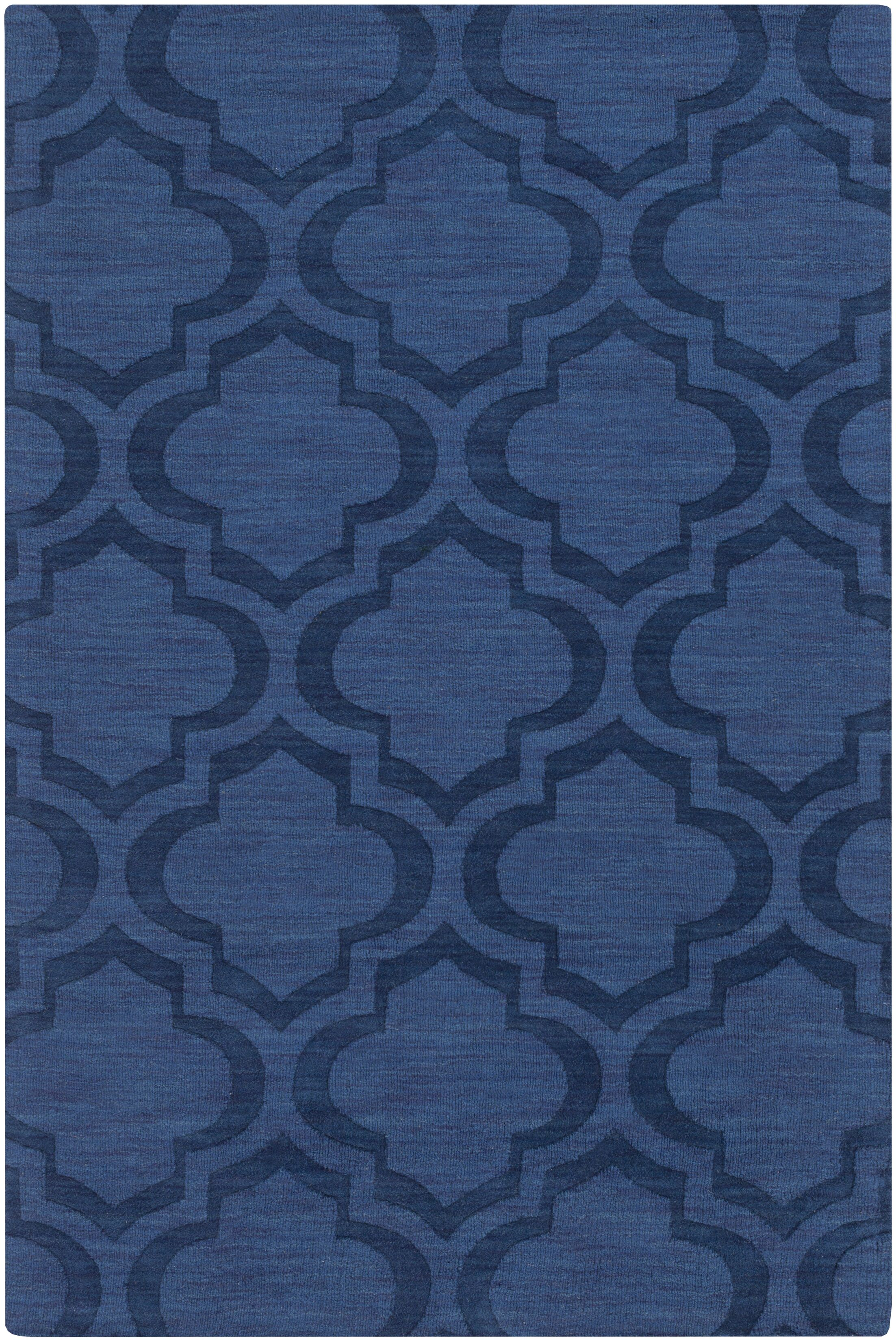 Castro Hand Woven Wool Navy Area Rug Rug Size: Rectangle 5' x 7'6
