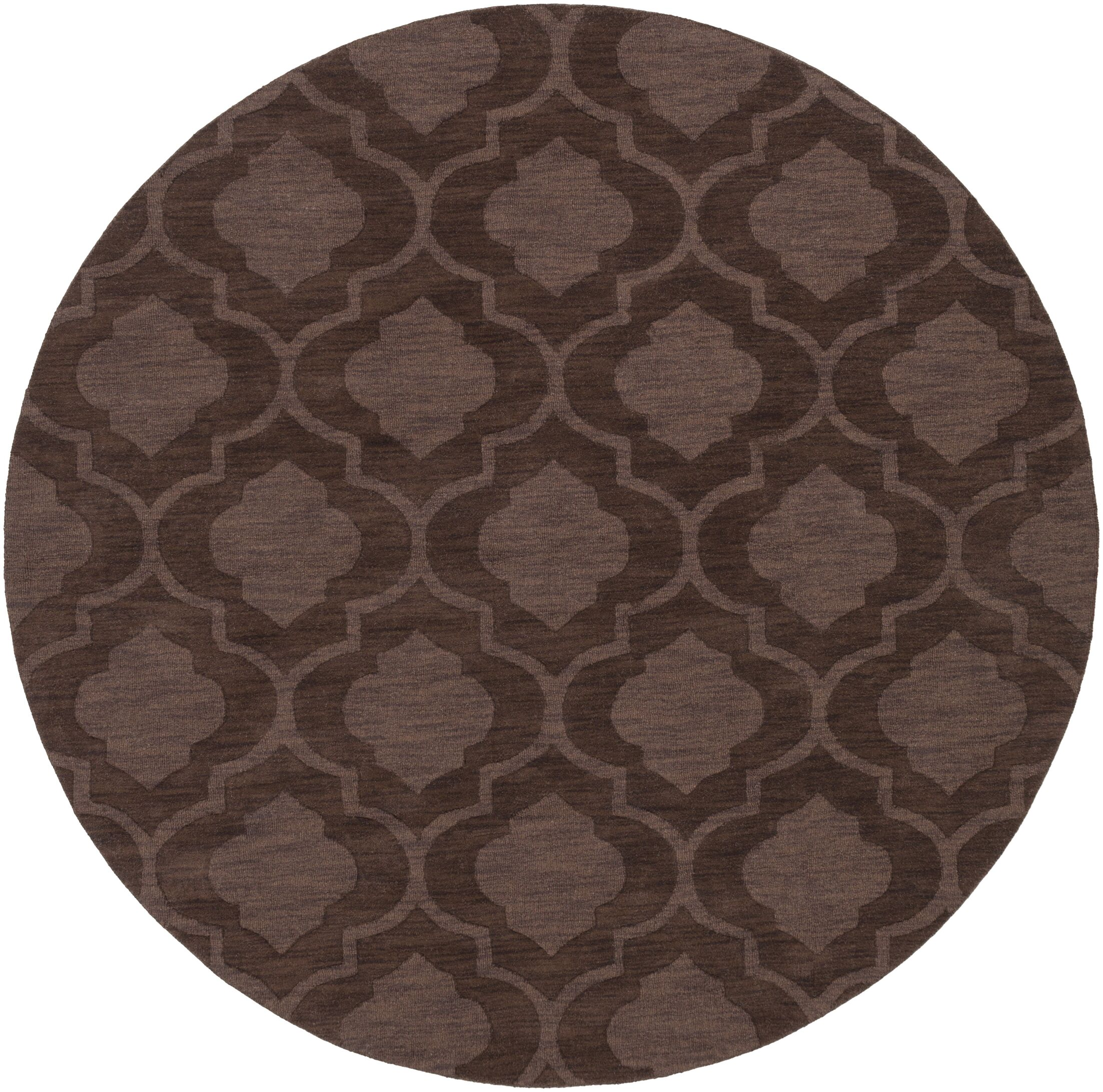 Castro Brown Geometric Kate Area Rug Rug Size: Round 9'9