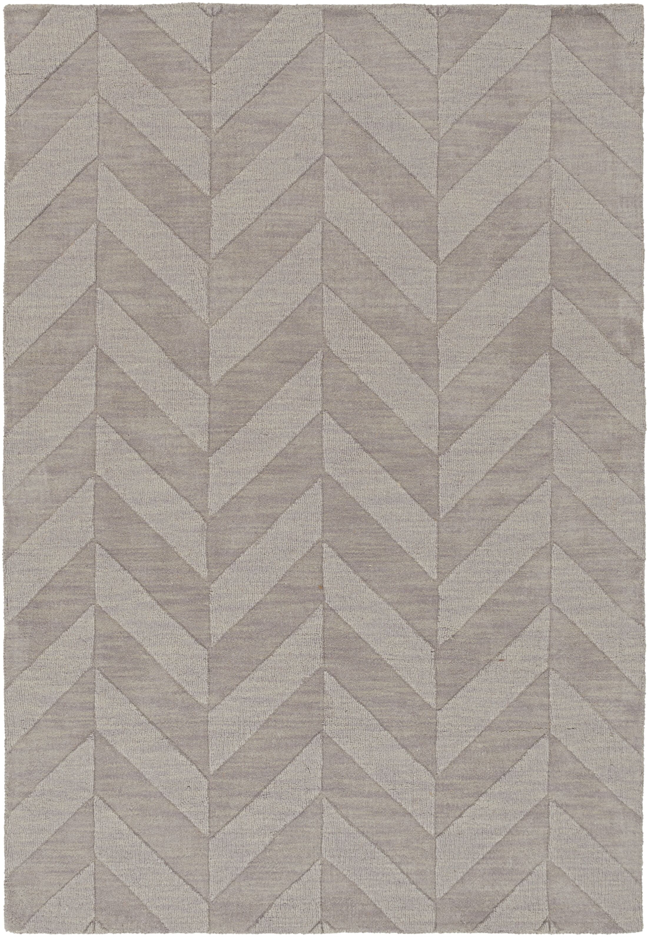Sunburst Hand Woven Wool Gray Area Rug Rug Size: Rectangle 4' x 6'