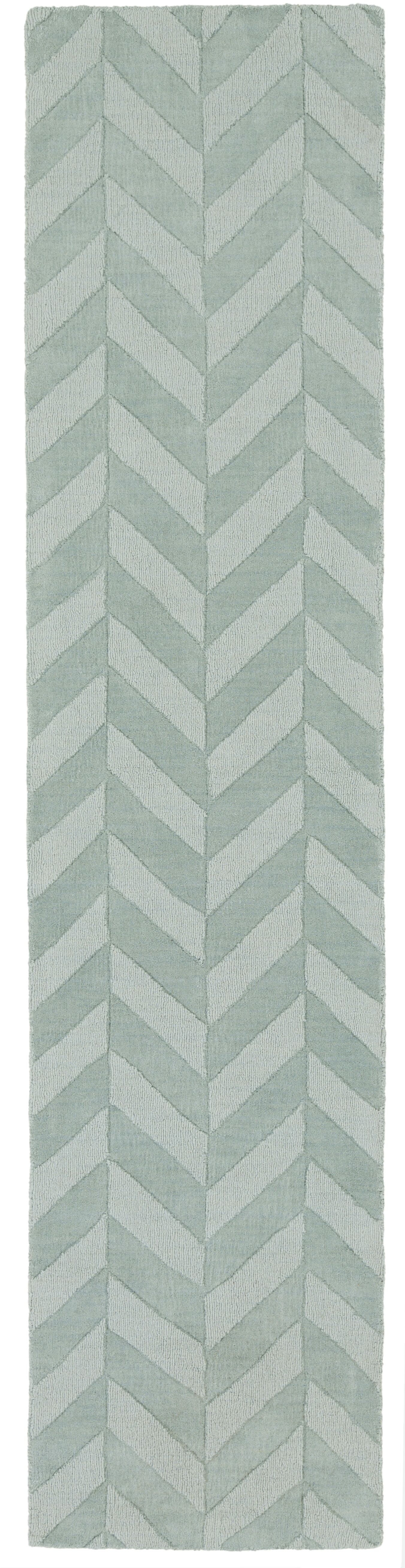 Sunburst Hand Woven Wool Teal Area Rug Rug Size: Runner 2'3