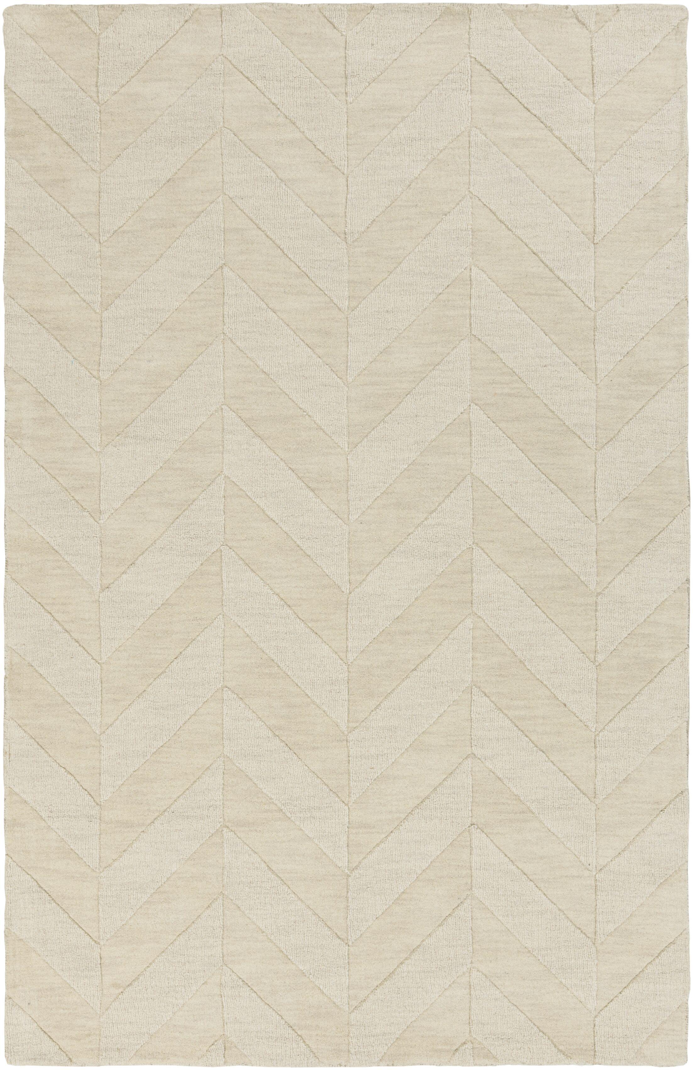 Sunburst Hand-Woven Wool Ivory Area Rug Rug Size: Rectangle 6' x 9'
