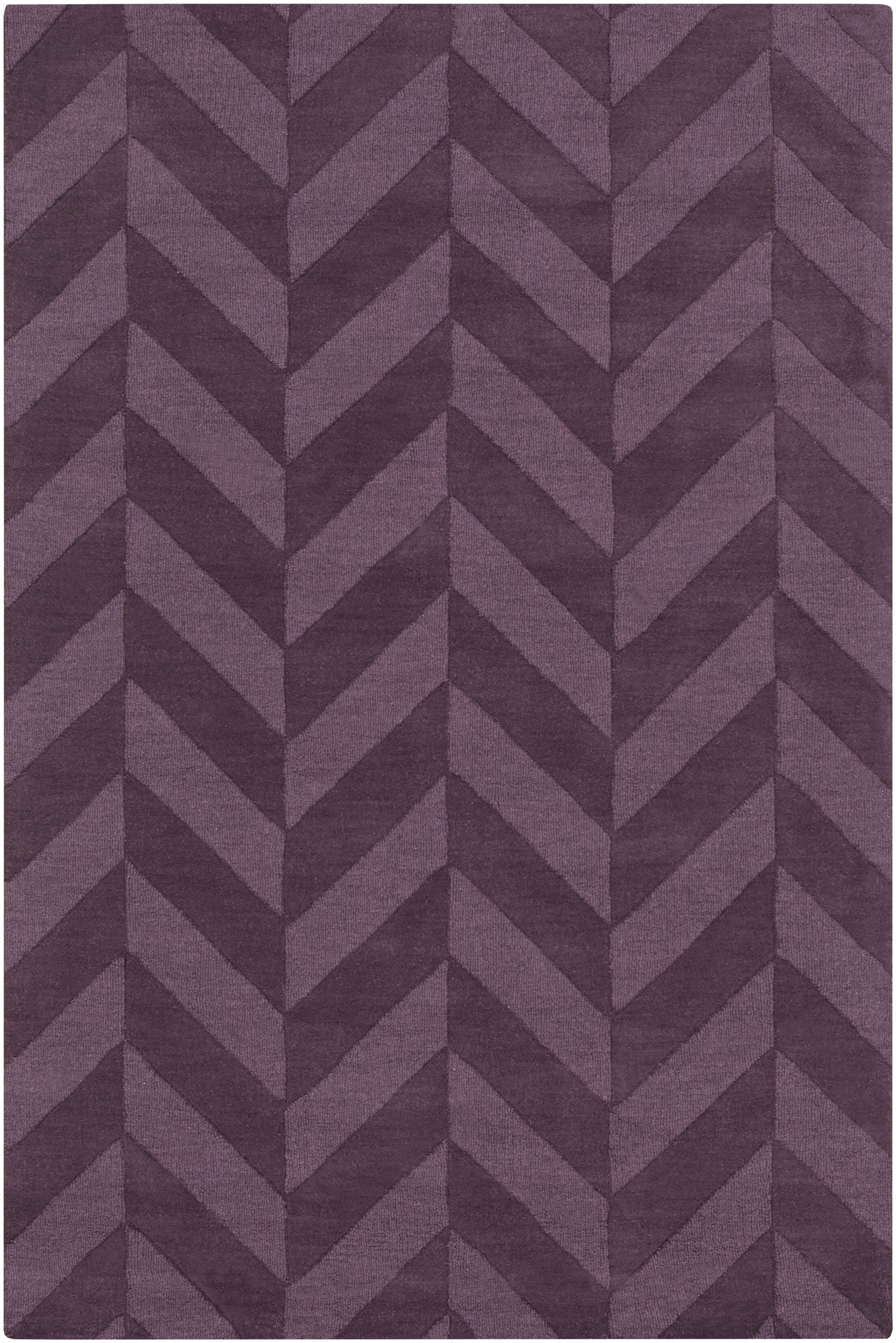Sunburst Hand Woven Wool Purple Area Rug Rug Size: Rectangle 6' x 9'