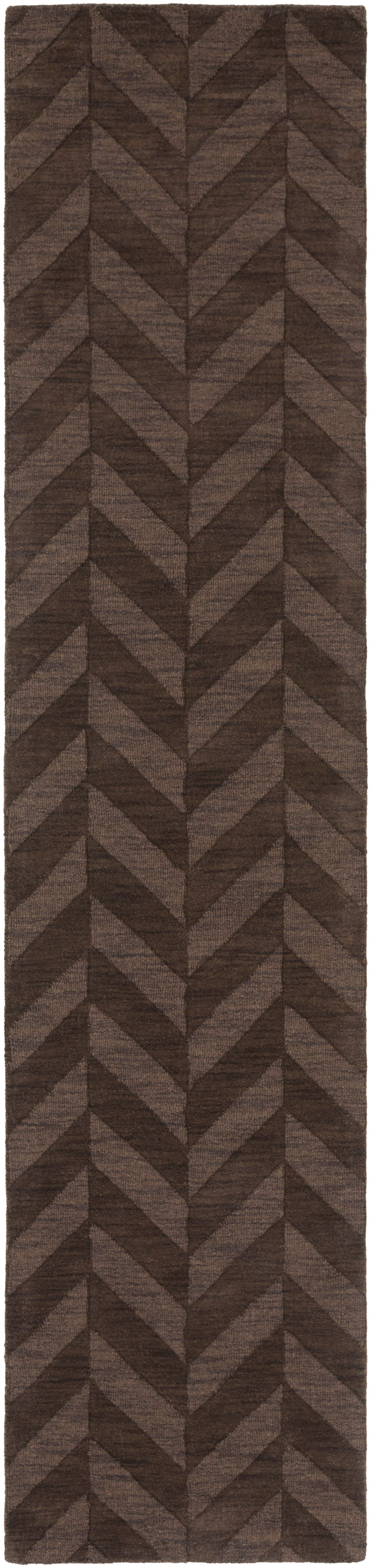 Sunburst Hand Woven Wool Brown Area Rug Rug Size: Runner 2'3