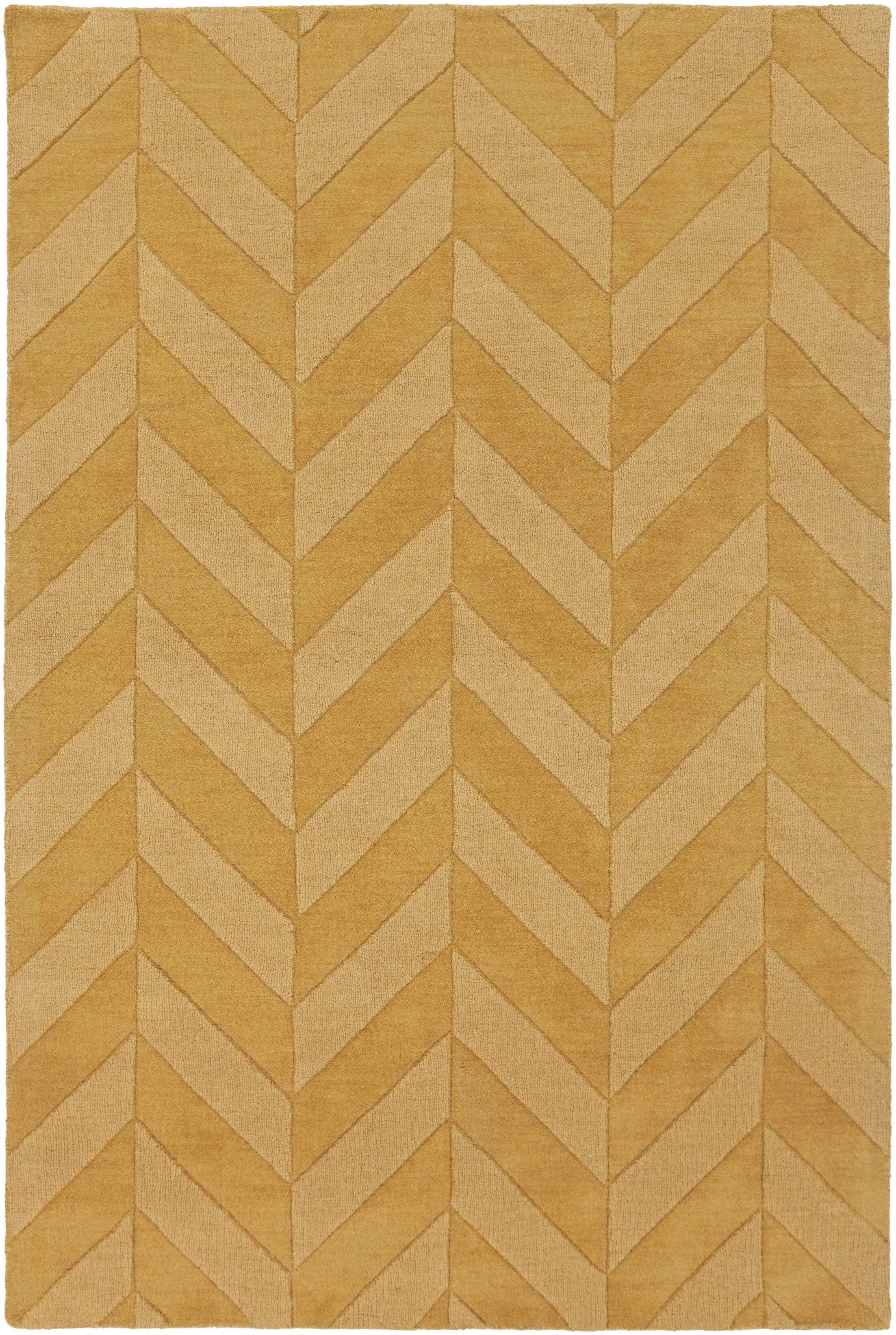 Sunburst Yellow Chevron Carrie Area Rug Rug Size: Rectangle 3' x 5'