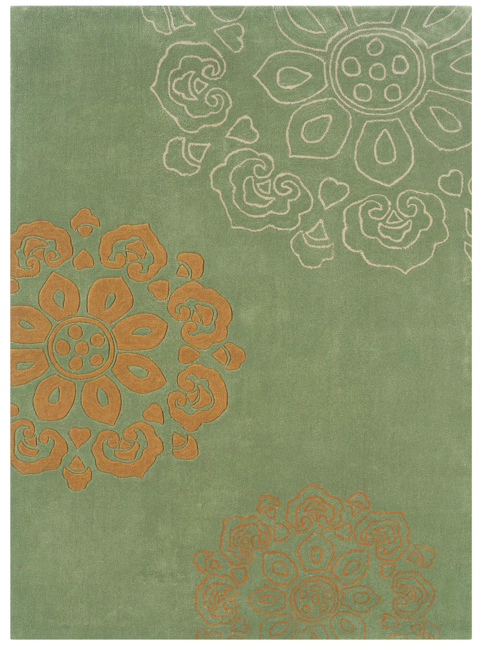 Mehcad Hand-Tufted Green Area Rug Rug Size: 8' x 10'