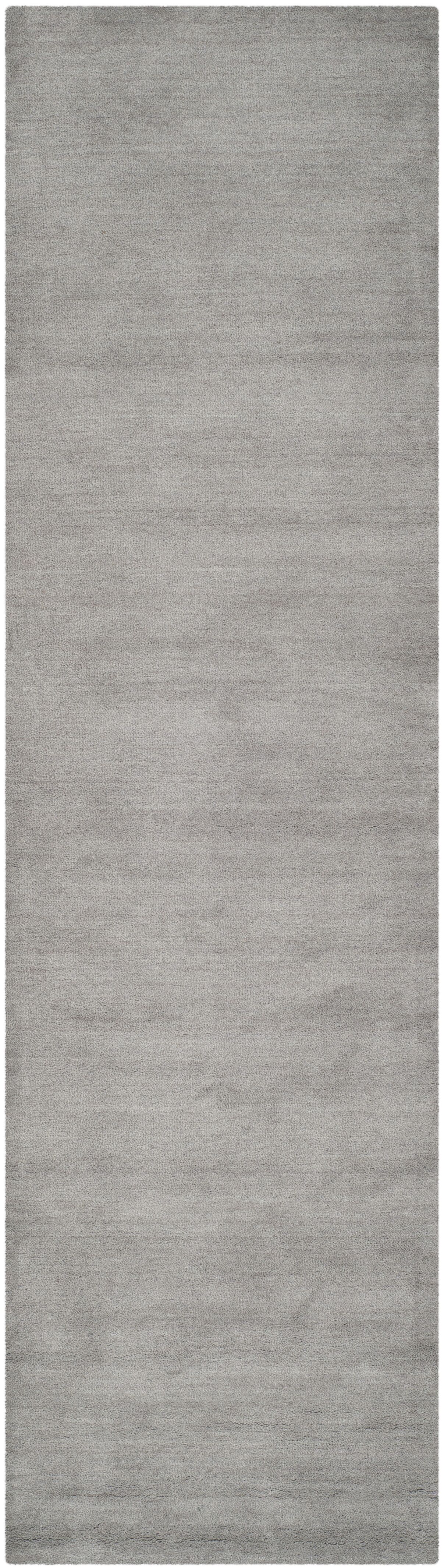 Bargo Hand-Woven Wool Grey Area Rug Rug Size: Runner 2'3