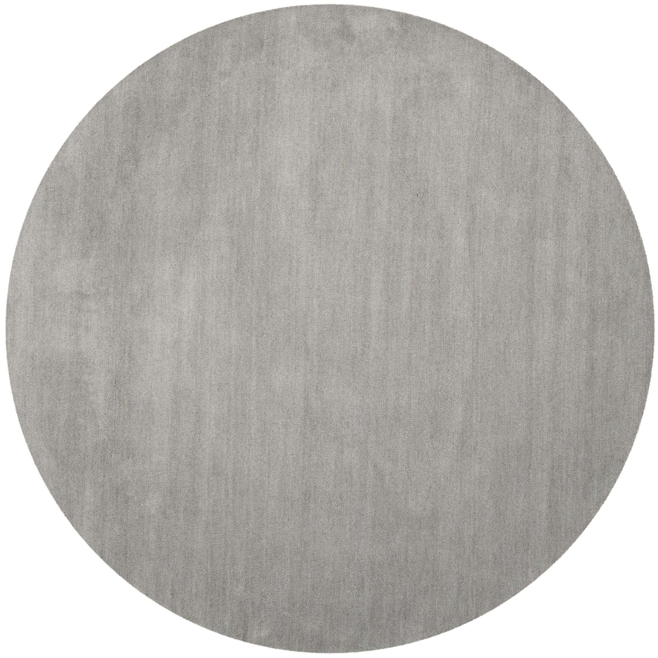 Bargo Hand-Woven Wool Grey Area Rug Rug Size: Square 6'