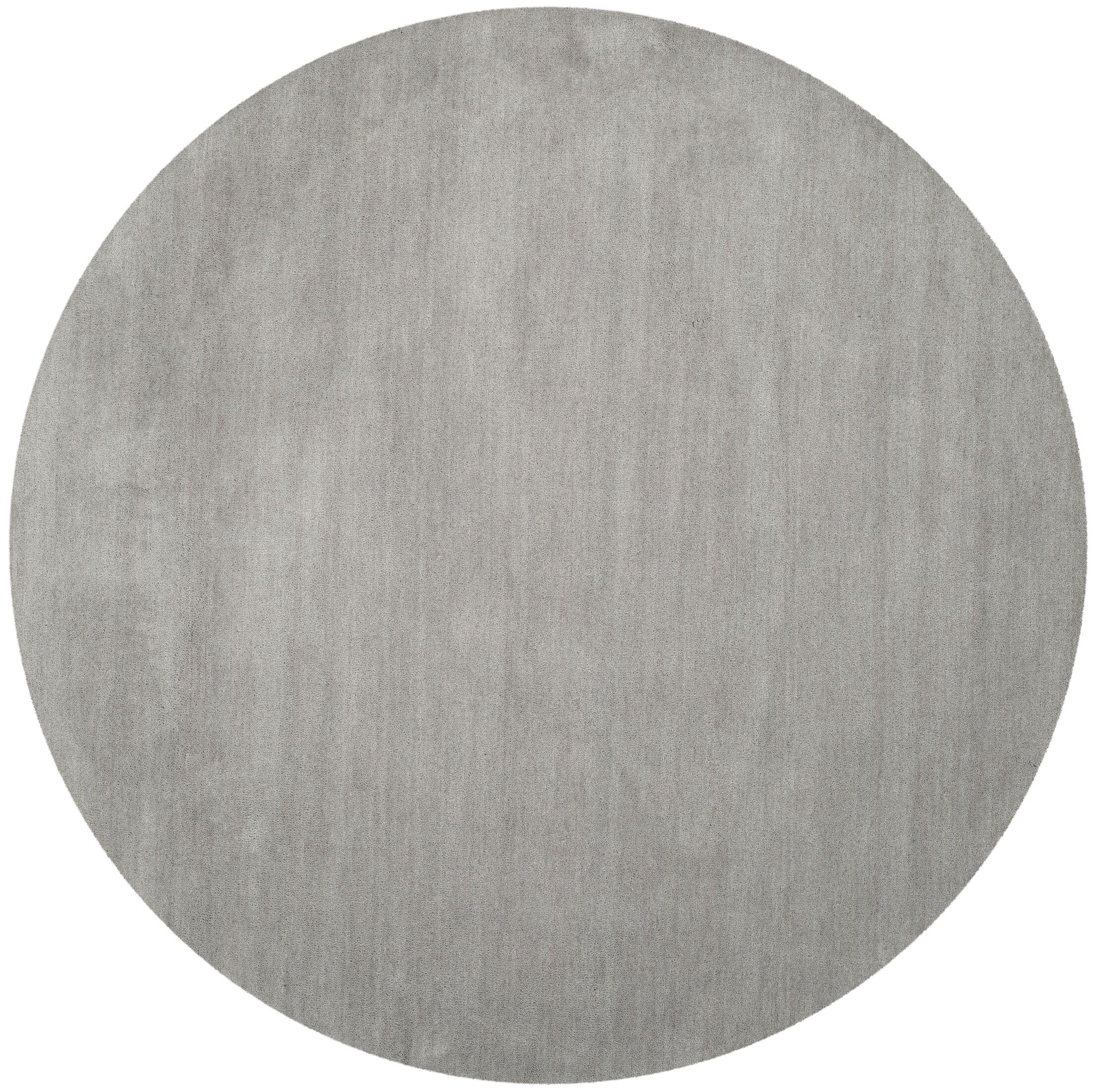 Bargo Hand-Woven Wool Grey Area Rug Rug Size: Round 4'