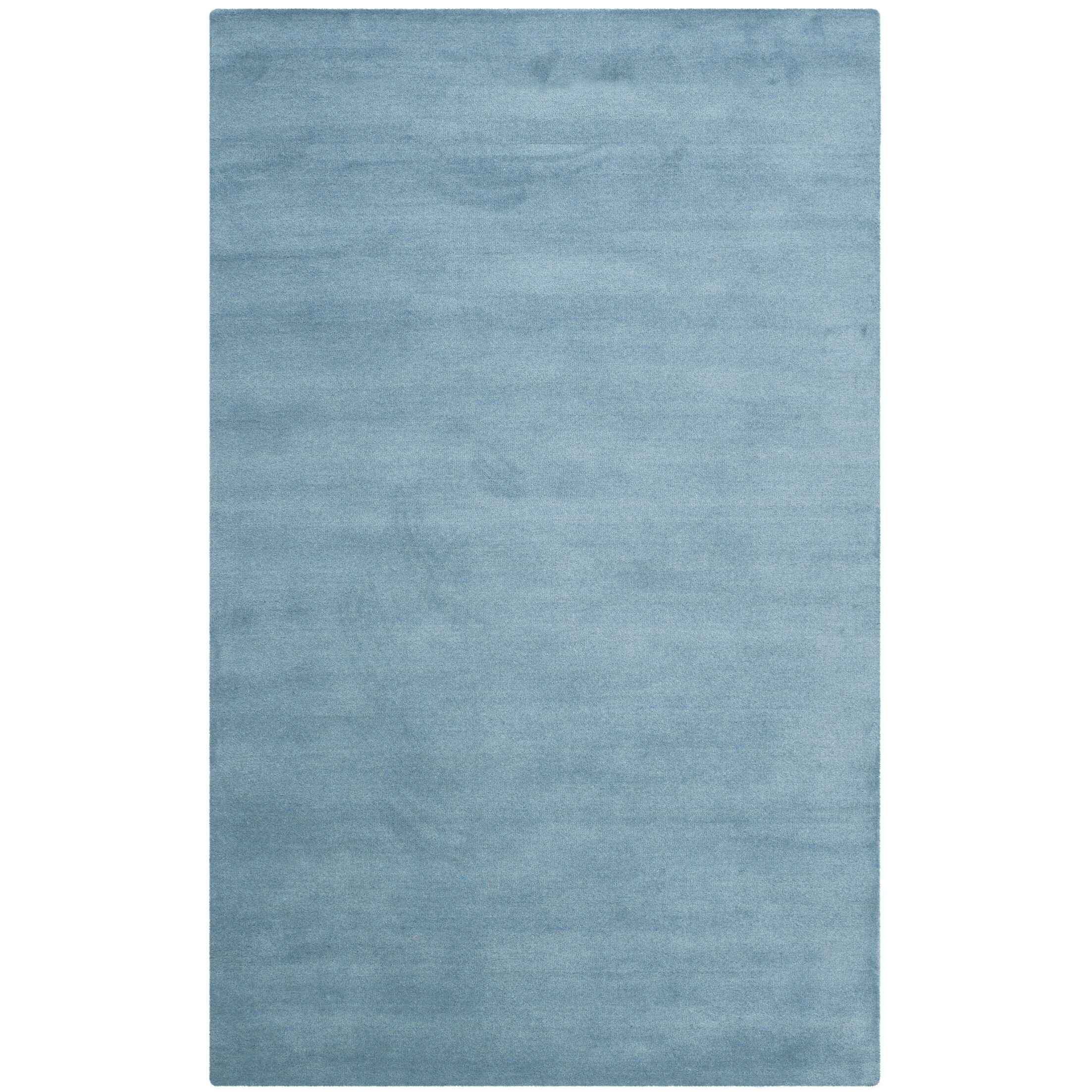 Bargo Hand-Woven Wool Blue Area Rug Rug Size: Rectangle 9' x 12'