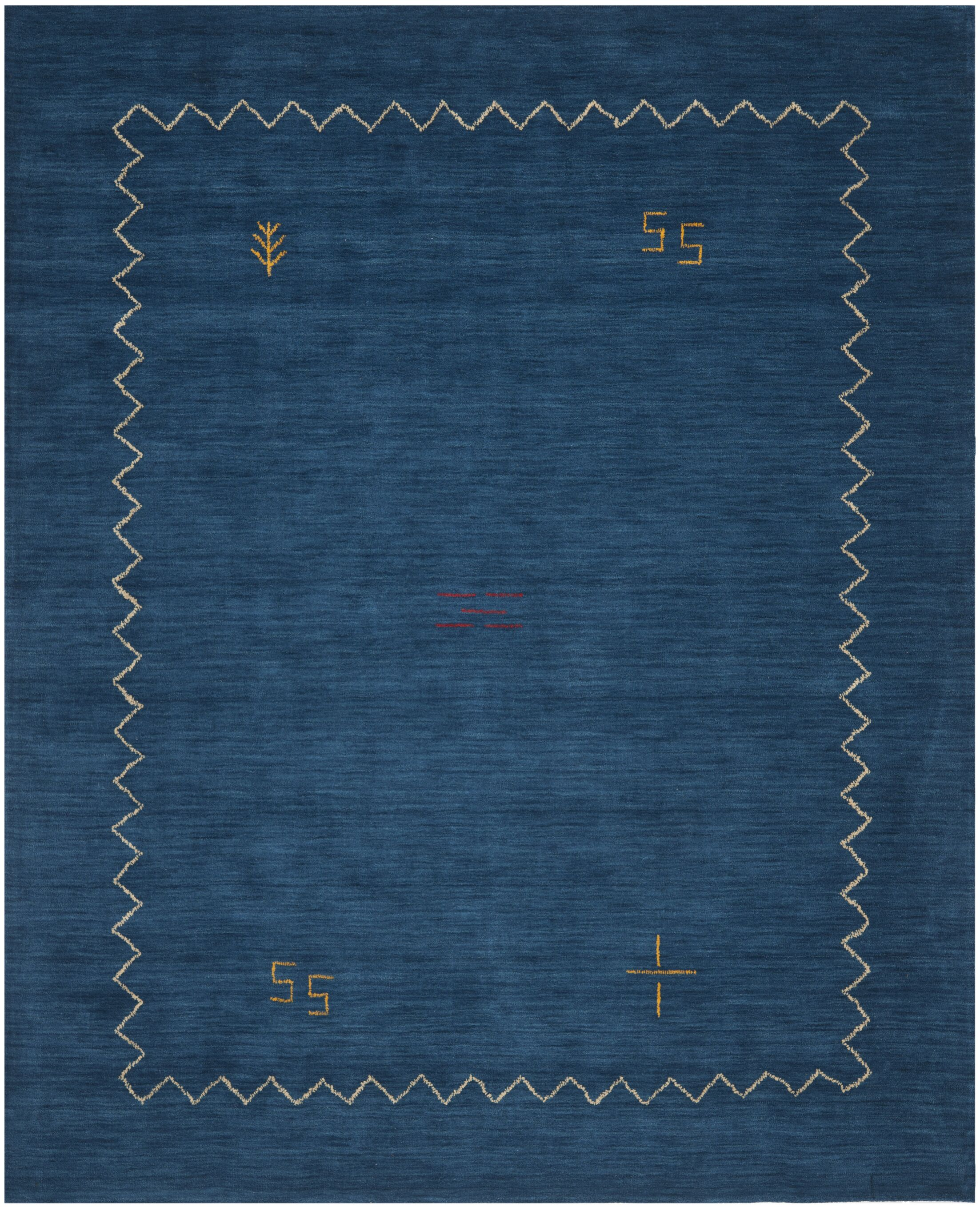 Bolick Blue Area Rug Rug Size: Rectangle 3' x 5'