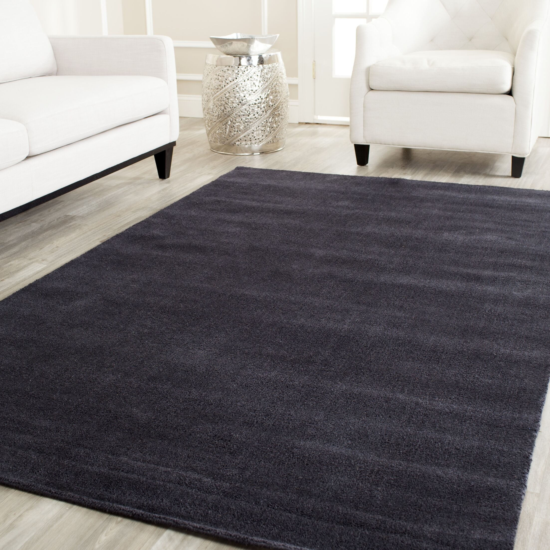 Bargo Black Area Rug Rug Size: Rectangle 6' x 9'