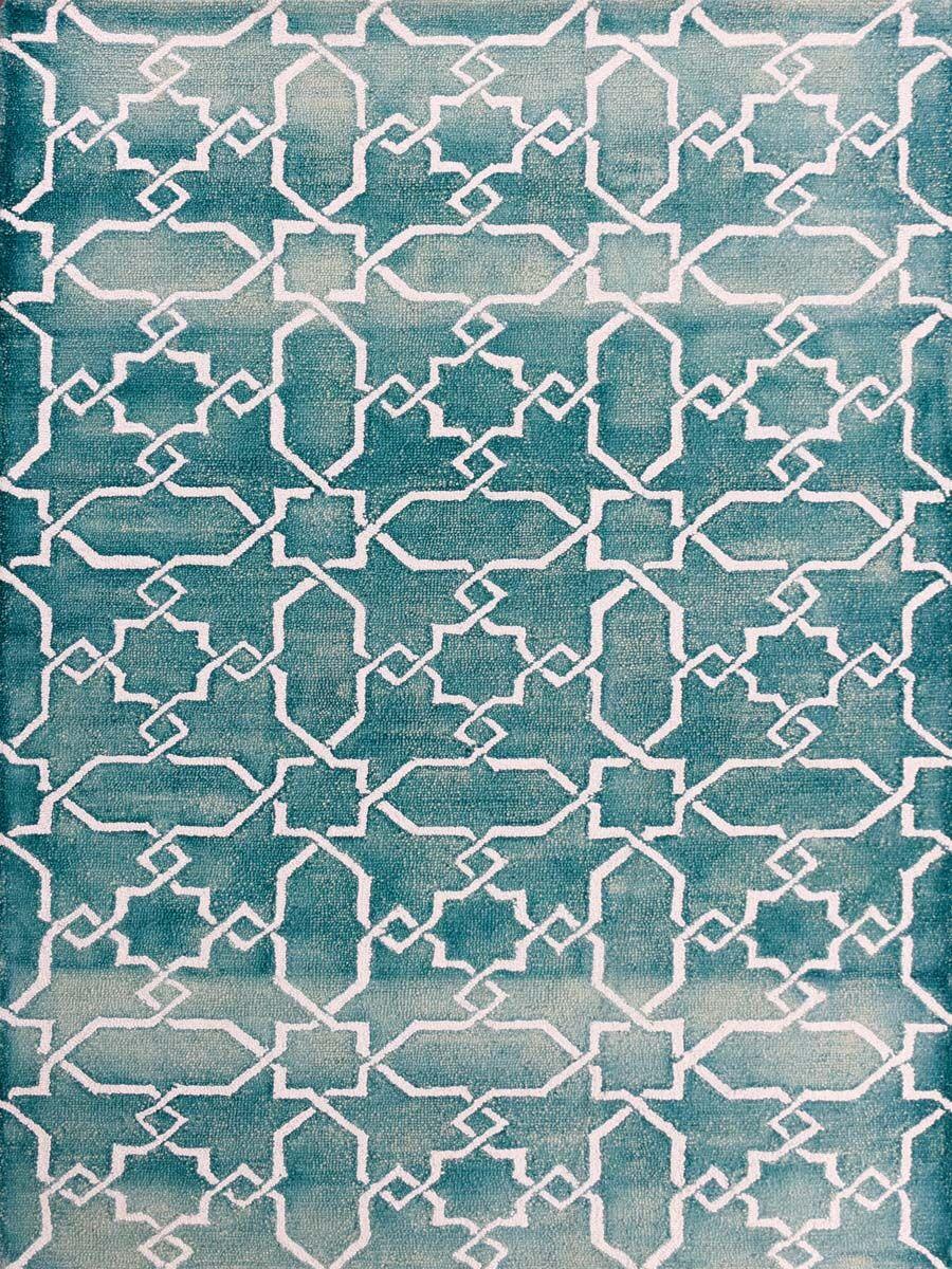 Eltingville Sea Blue/White Area Rug Rug Size: Rectangle 8' x 11'