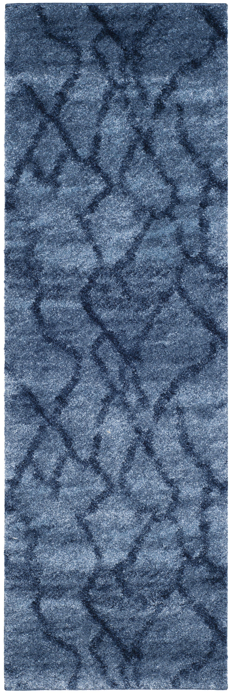 Tenth Avenue Dark Blue Area Rug Rug Size: Runner 2'3