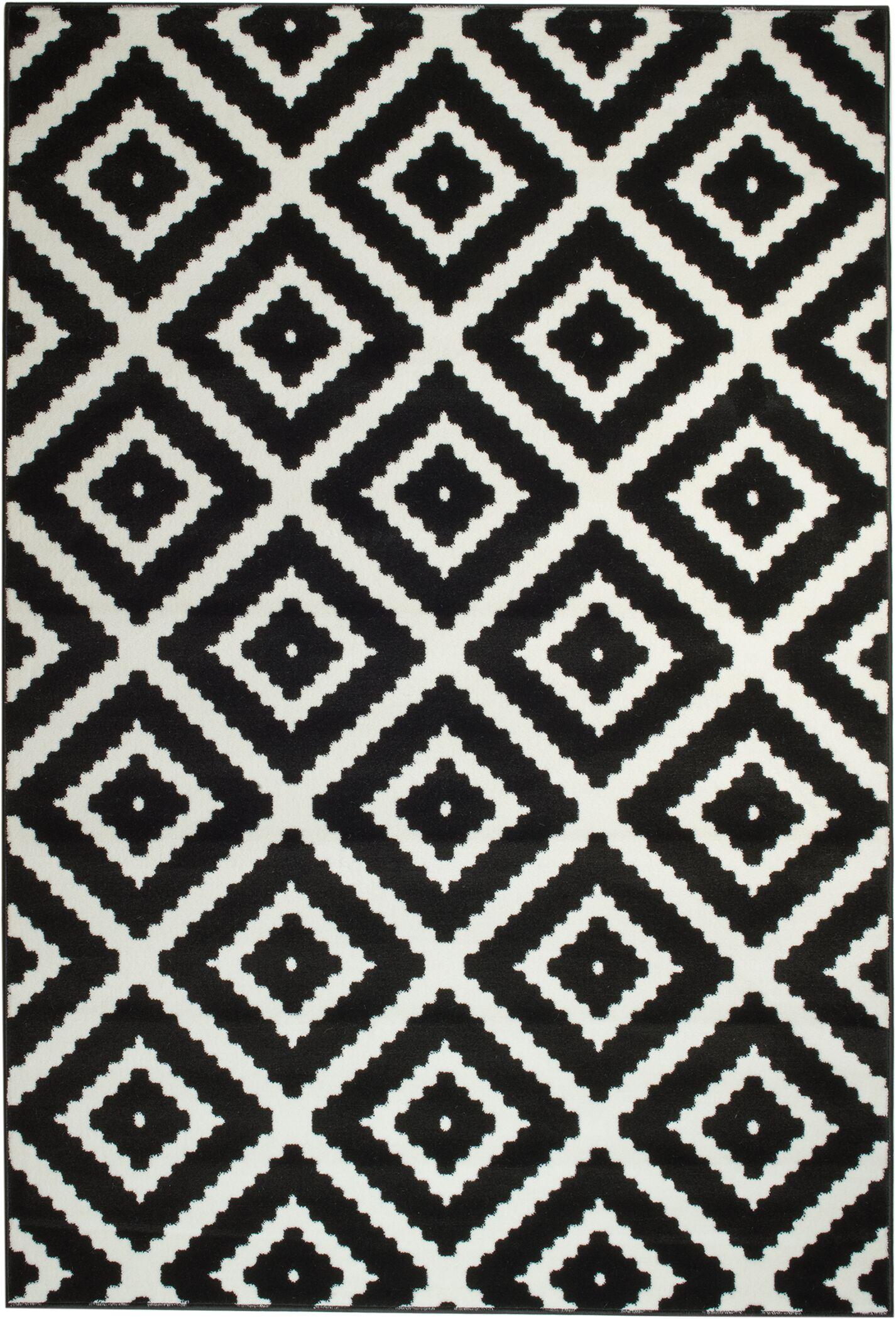 Cheney Black Indoor Area Rug Rug Size: Rectangle 7'4