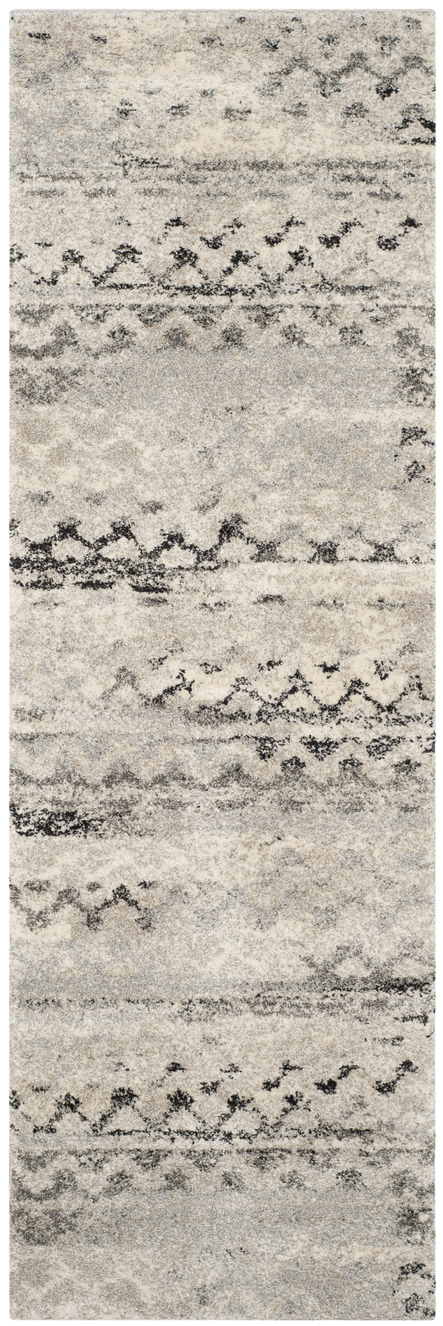 Sabang Cream / Gray Area Rug Rug Size: Runner 2'3