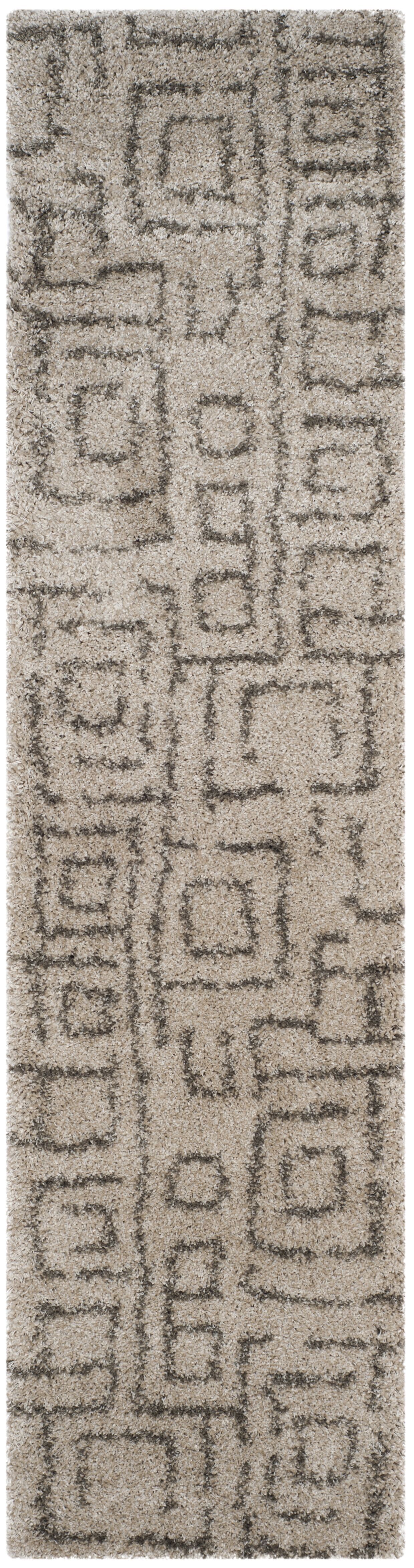 Starr Hill Taupe/Gray Area Rug Rug Size: Runner 2'3