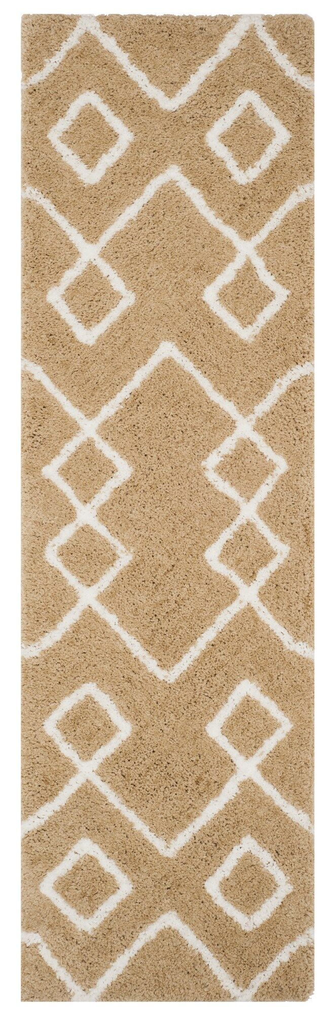 Shead Hand-Tufted Beige/Ivory Area Rug Rug Size: Runner 2'3
