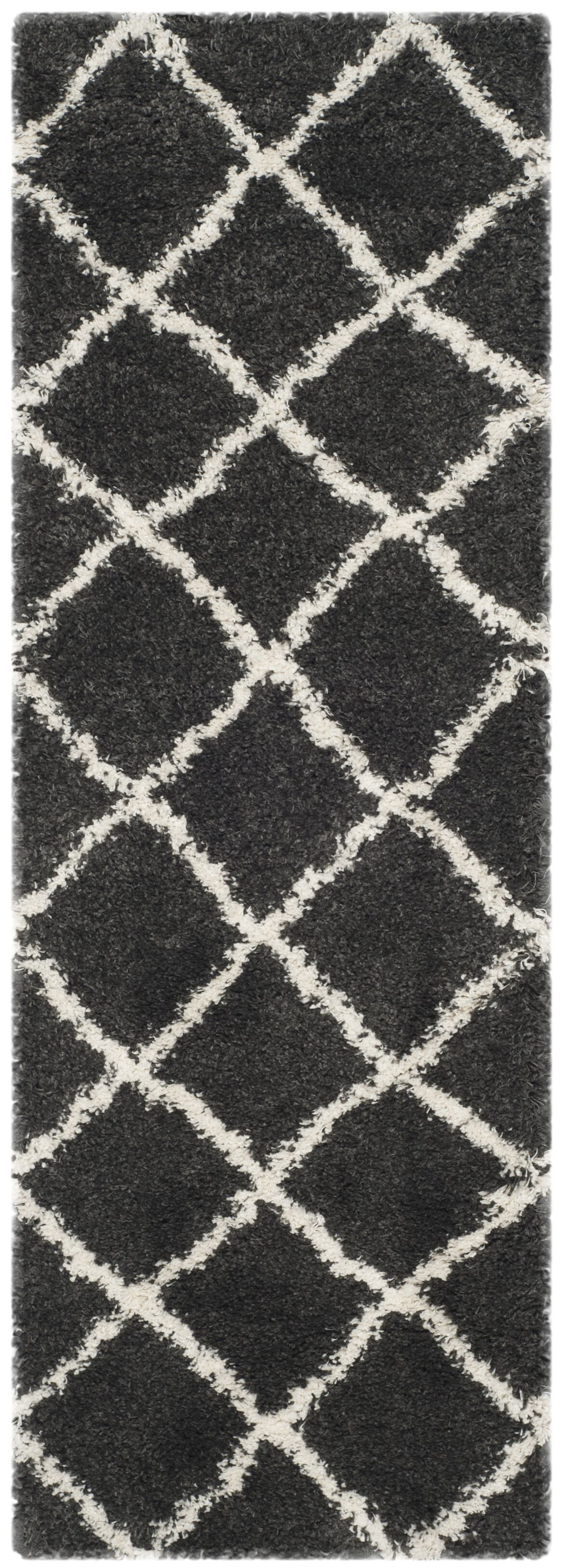 Cherry Street Charcoal / Ivory Area Rug Rug Size: Runner 2'3