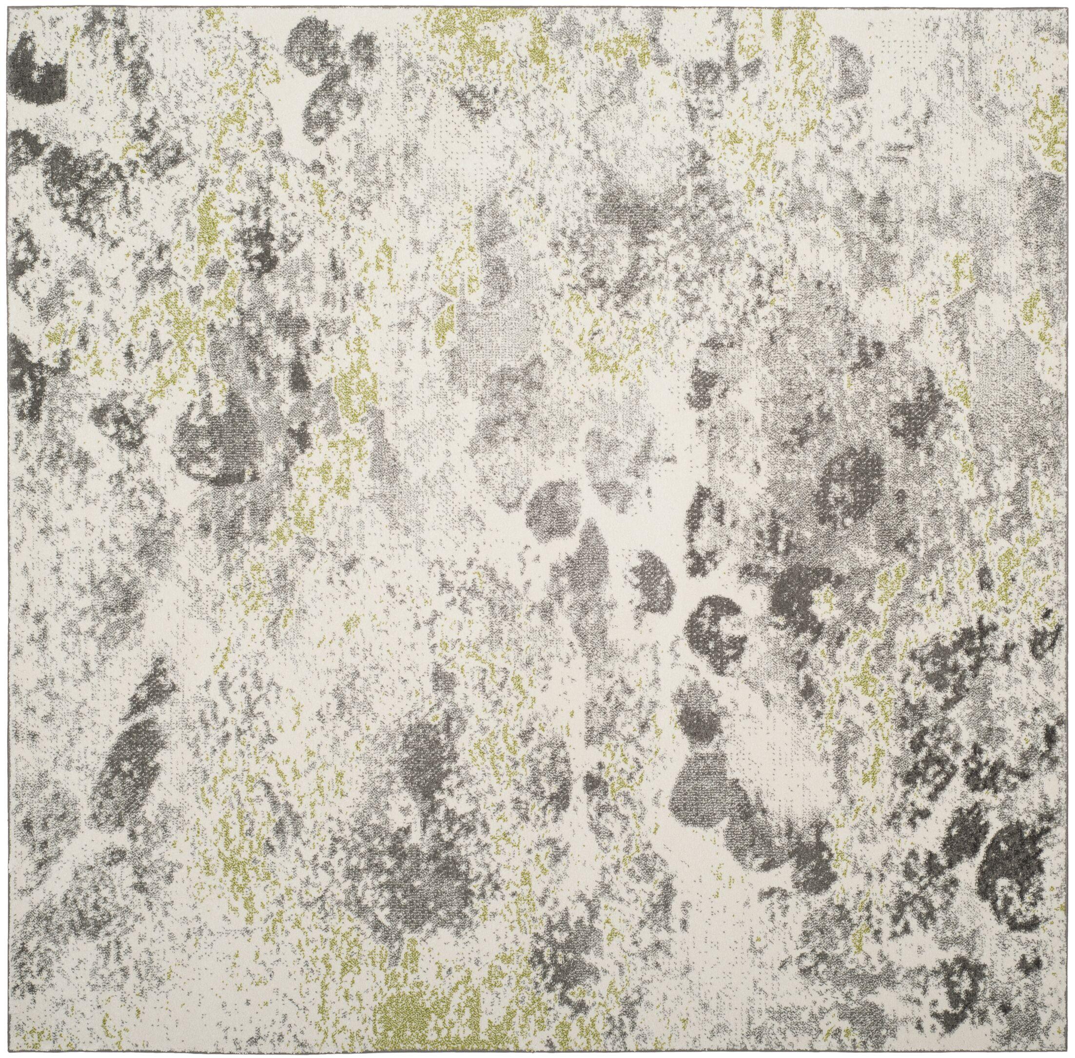 Seybert Beige/Gray Area Rug Rug Size: Square 6'7