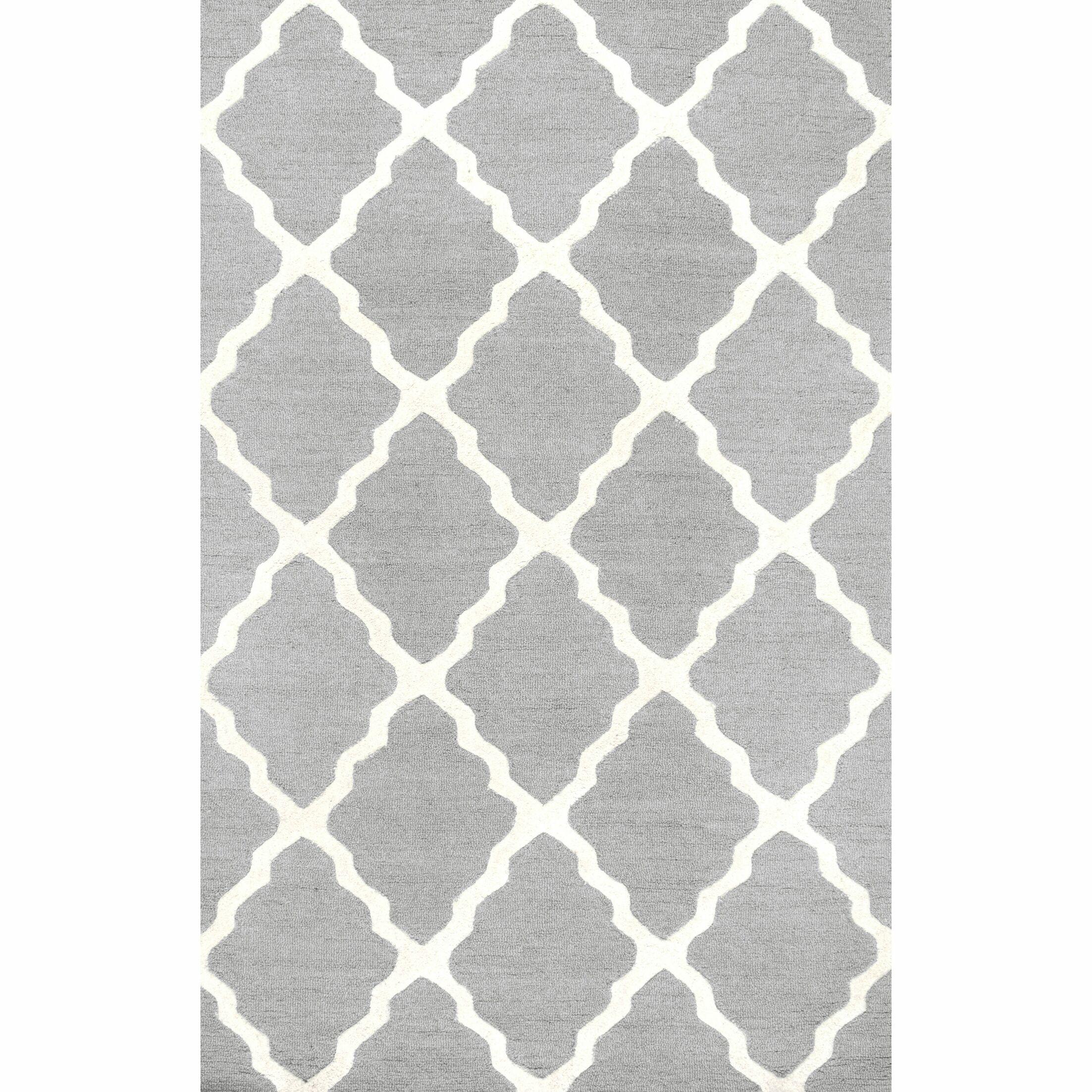 Tadlock Hand-Woven Gray Area Rug Rug Size: Rectangle 5' x 8'