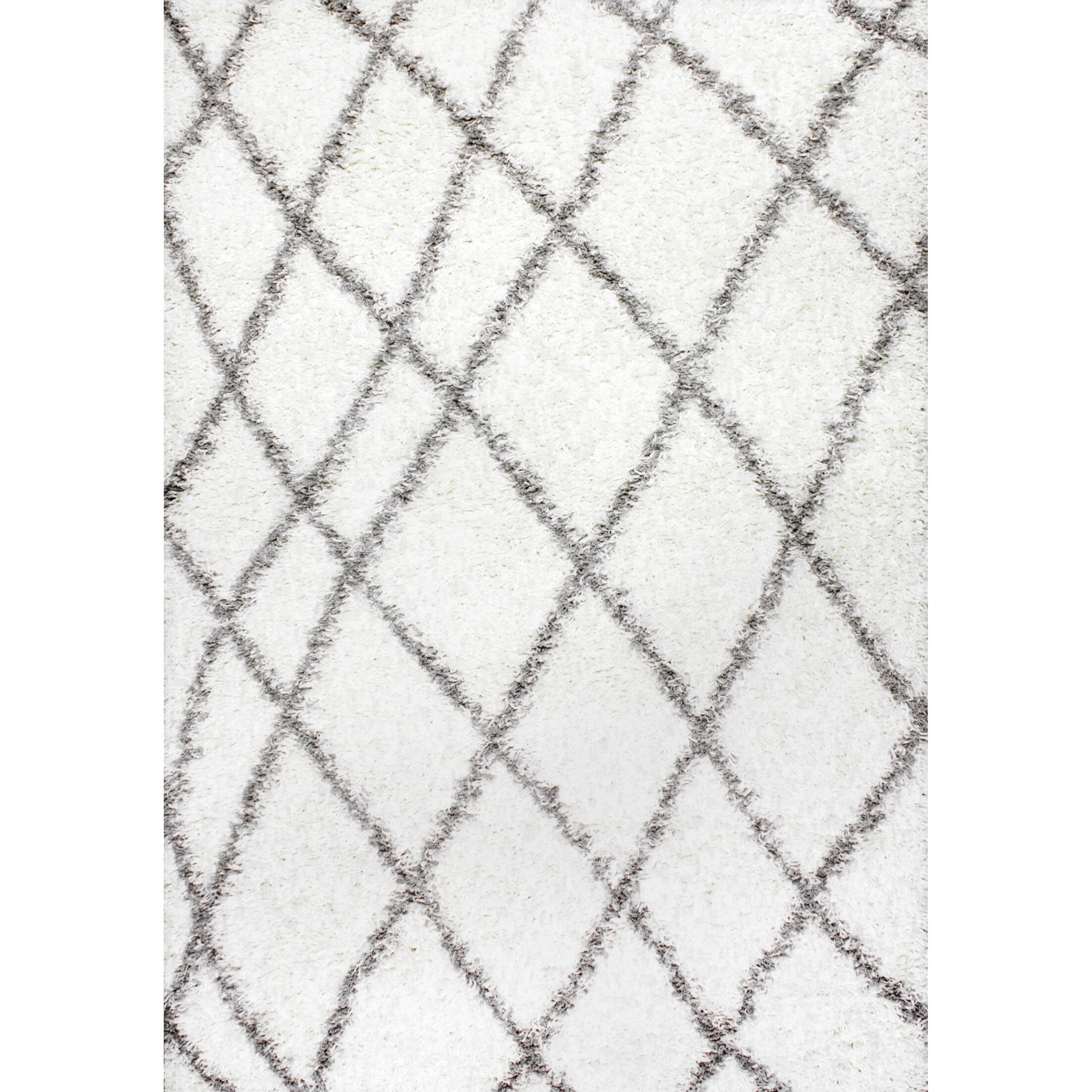 Collett White Area Rug Rug Size: Rectangle 6'7