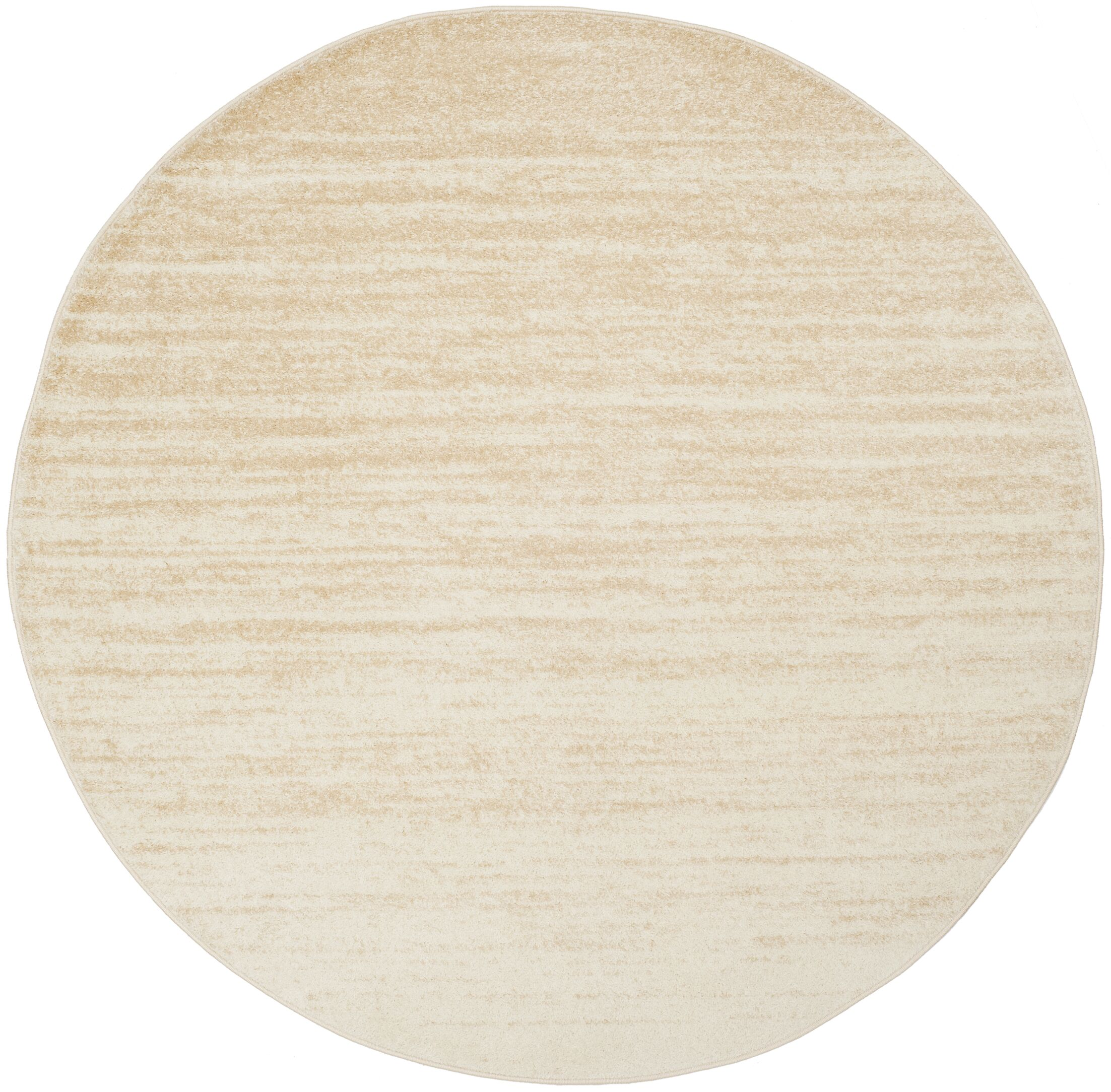 Connie Champagne/Cream Area Rug Rug Size: Round 6'