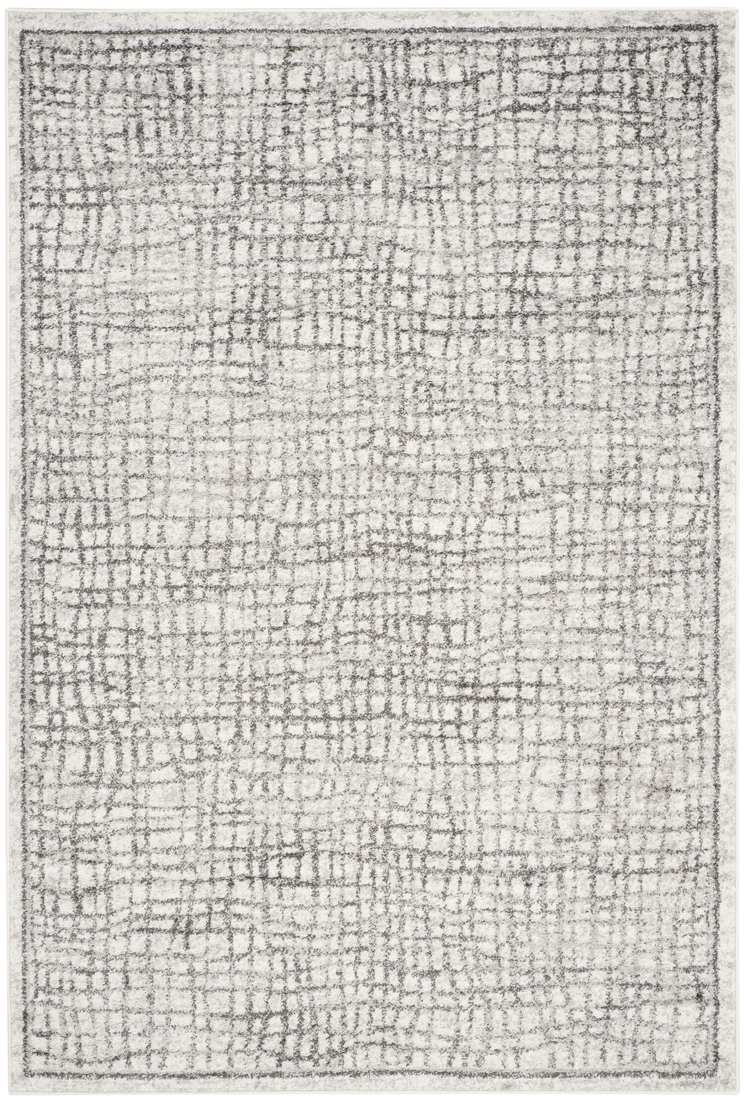 Connie Silver/Ivory Area Rug Rug Size: Rectangle 5'1